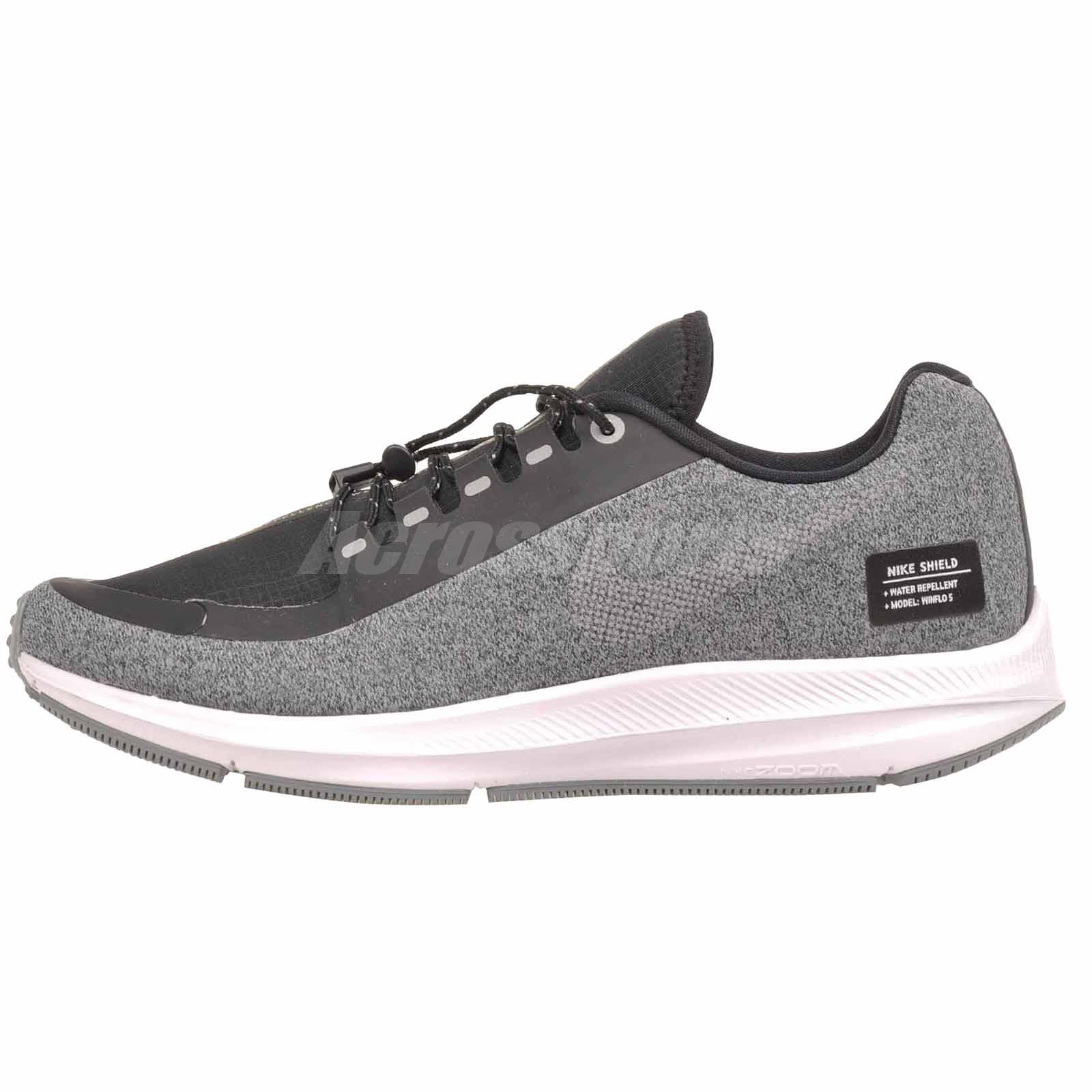 Acostumbrarse a Triturado realidad  Nike W Zoom Winflo 5 Run Shield Running Womens Shoes Black Grey ...