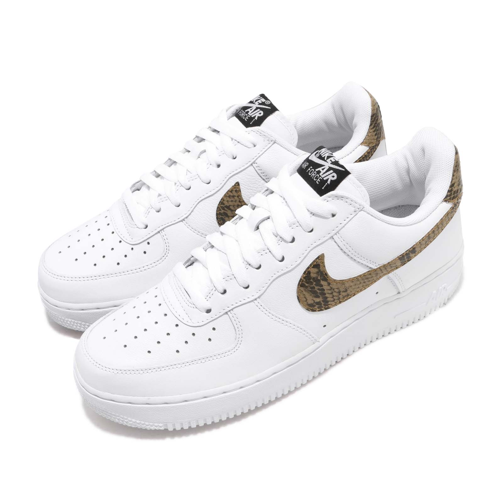 save off 1a3da 0f43f Details about Nike Air Force 1 Low AF1 Ivory Snake Snakeskin White Men  Casual Shoes AO1635-100