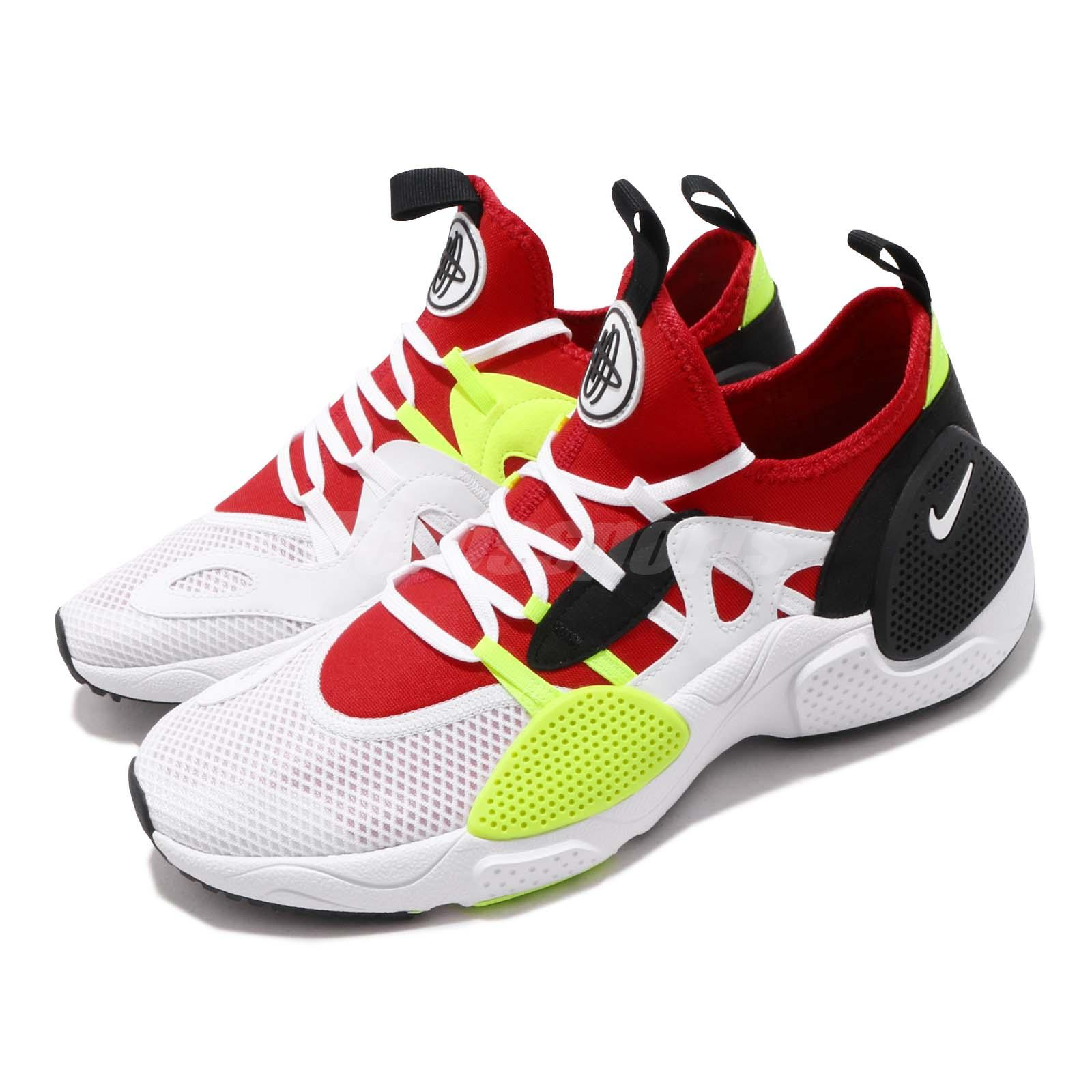 cheap for discount 6f063 aa992 Details about Nike Huarache E.D.G.E. Txt White Red Volt Black Men Shoes  Sneakers AO1697-100