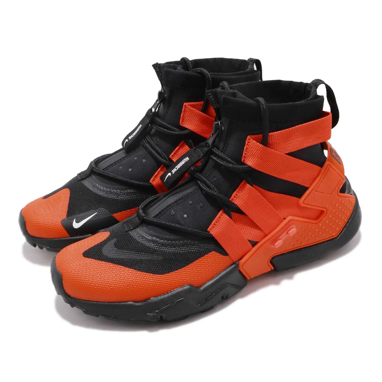 f4478abceb8e Details about Nike Air Huarache Gripp Black Team Orange Men Running Shoes  Sneakers AO1730-001