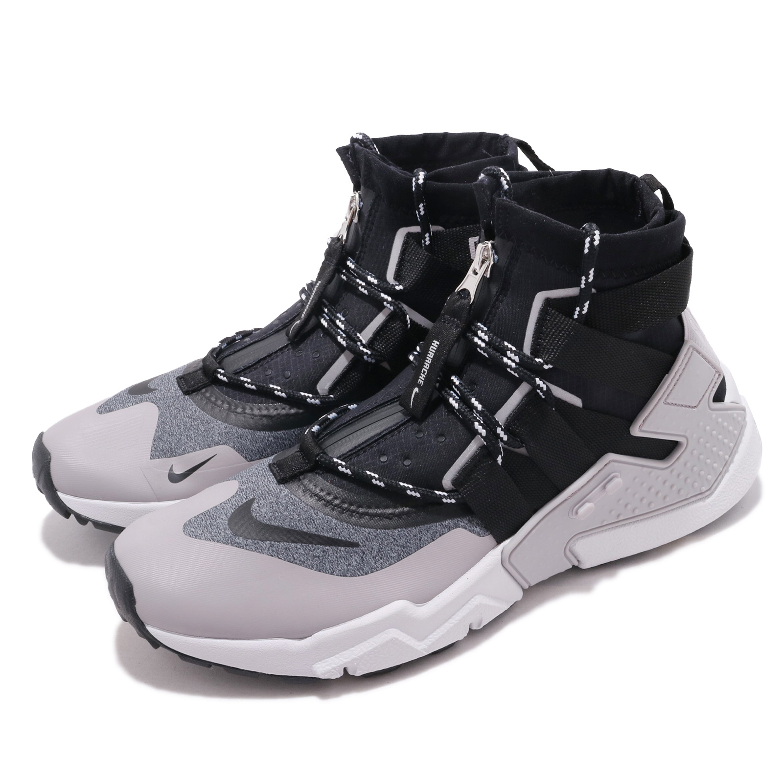 competitive price ad378 b6d1b Details about Nike Air Huarache Gripp Grey Black Zipper Men Running Shoes  Sneakers AO1730-004
