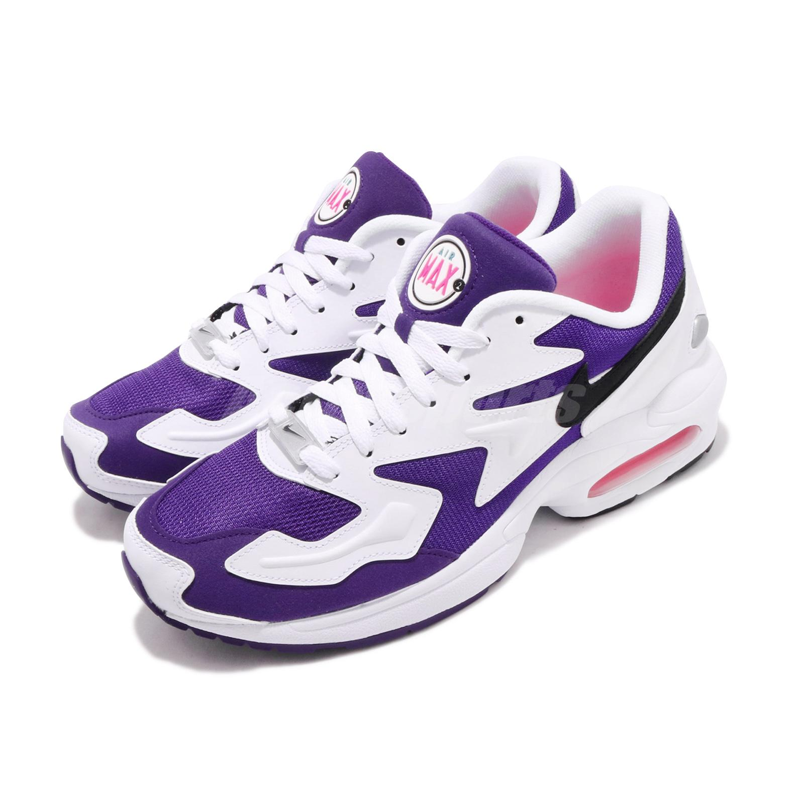 Details about Nike Air Max2 Light Purple Berry White Pink Black Men Running  Shoes AO1741-103