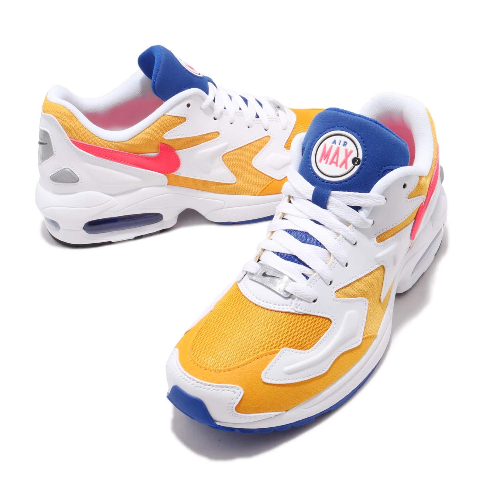 finest selection 827dc 77130 Nike Air Max2 Light Gold Yellow Crimson Blue Mens Running Shoes NSW ...