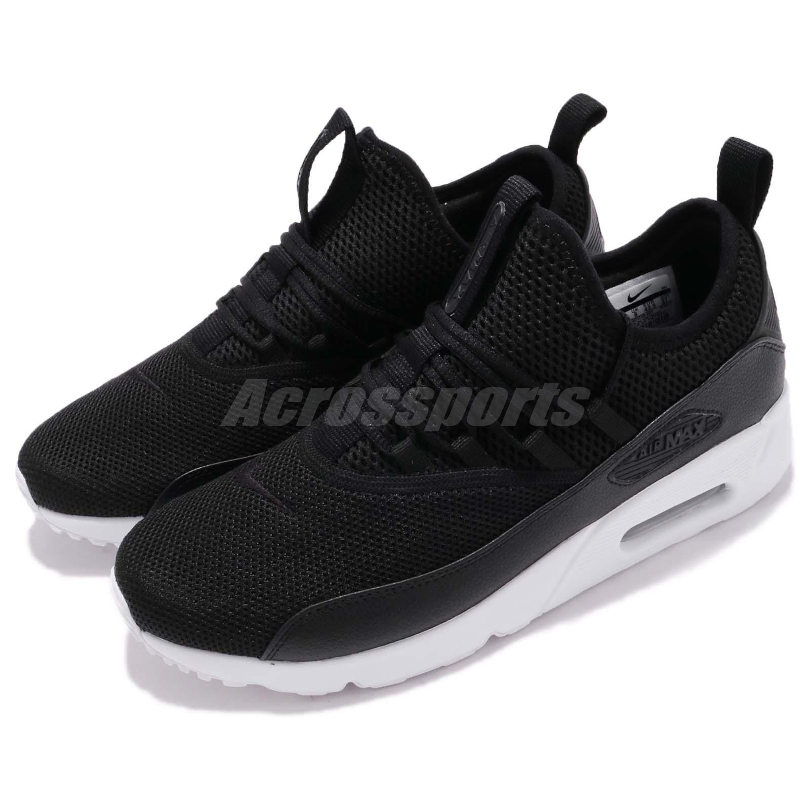 timeless design 9efdc 952b6 Details about Nike Air Max 90 EZ Black White Slip On Men Running Shoes  Sneakers AO1745-001