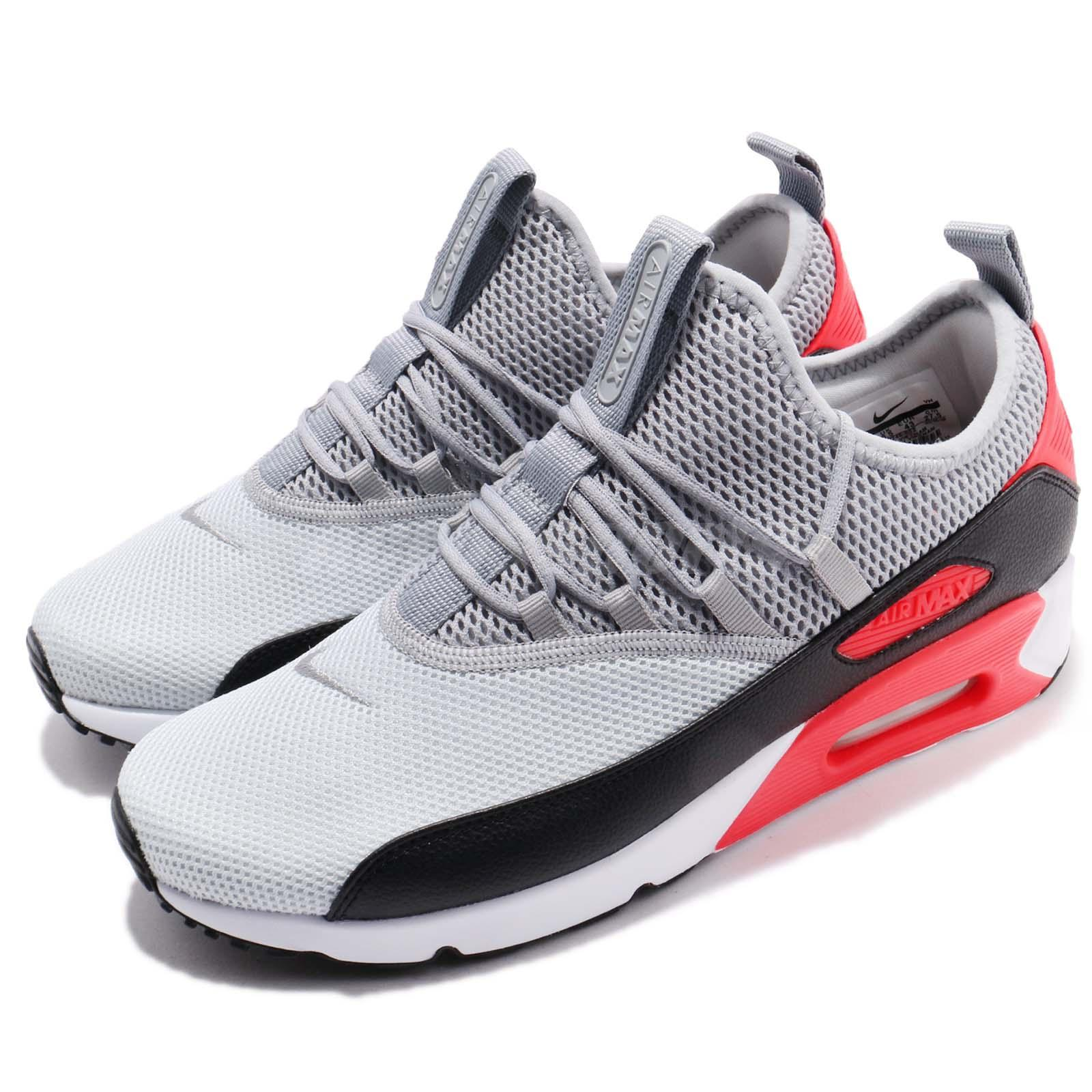 new products edeb7 60677 Details about Nike Air Max 90 EZ Grey Black Infrared Red Men Running Shoes  Sneakers AO1745-002