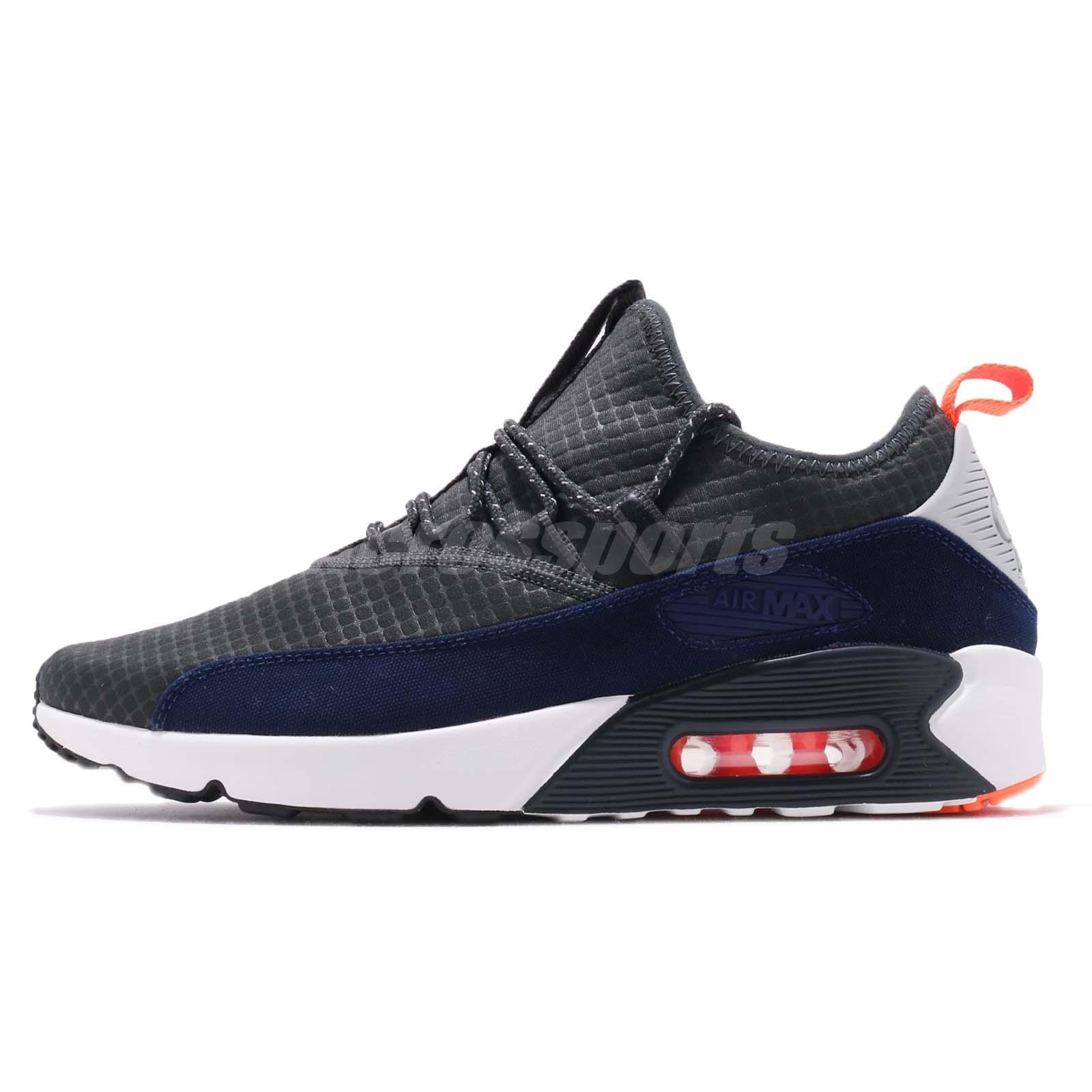 e34d4b882b Nike Air Max 90 EZ Grey Orange Navy White Men Running Shoes Sneakers  AO1745-007