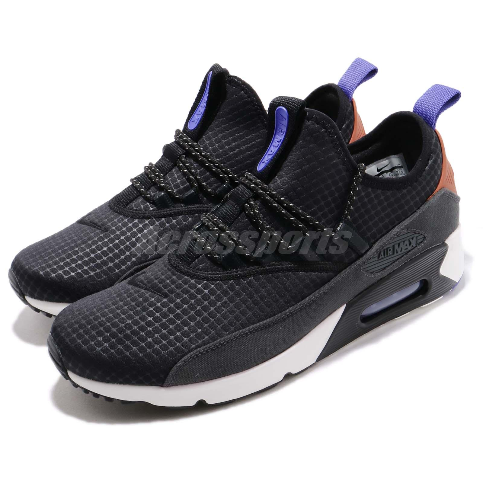 limited guantity new concept new high quality Details about Nike Air Max 90 EZ Black White Purple Men Running Shoes  Sneakers AO1745-008