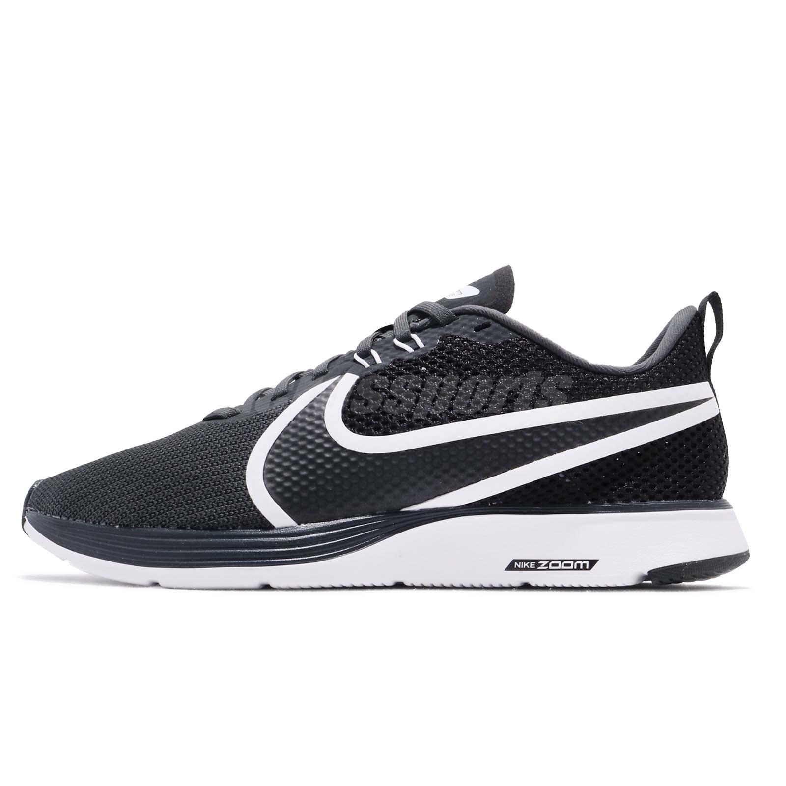 db8316c1f06fc Nike Zoom Strike 2 Black White Men Running Training Shoes Sneakers AO1912- 001