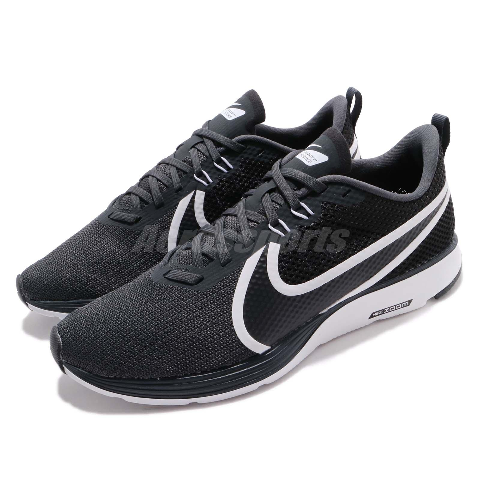 2fcd23b3eb6c5 Details about Nike Zoom Strike 2 Black White Men Running Training Shoes  Sneakers AO1912-001