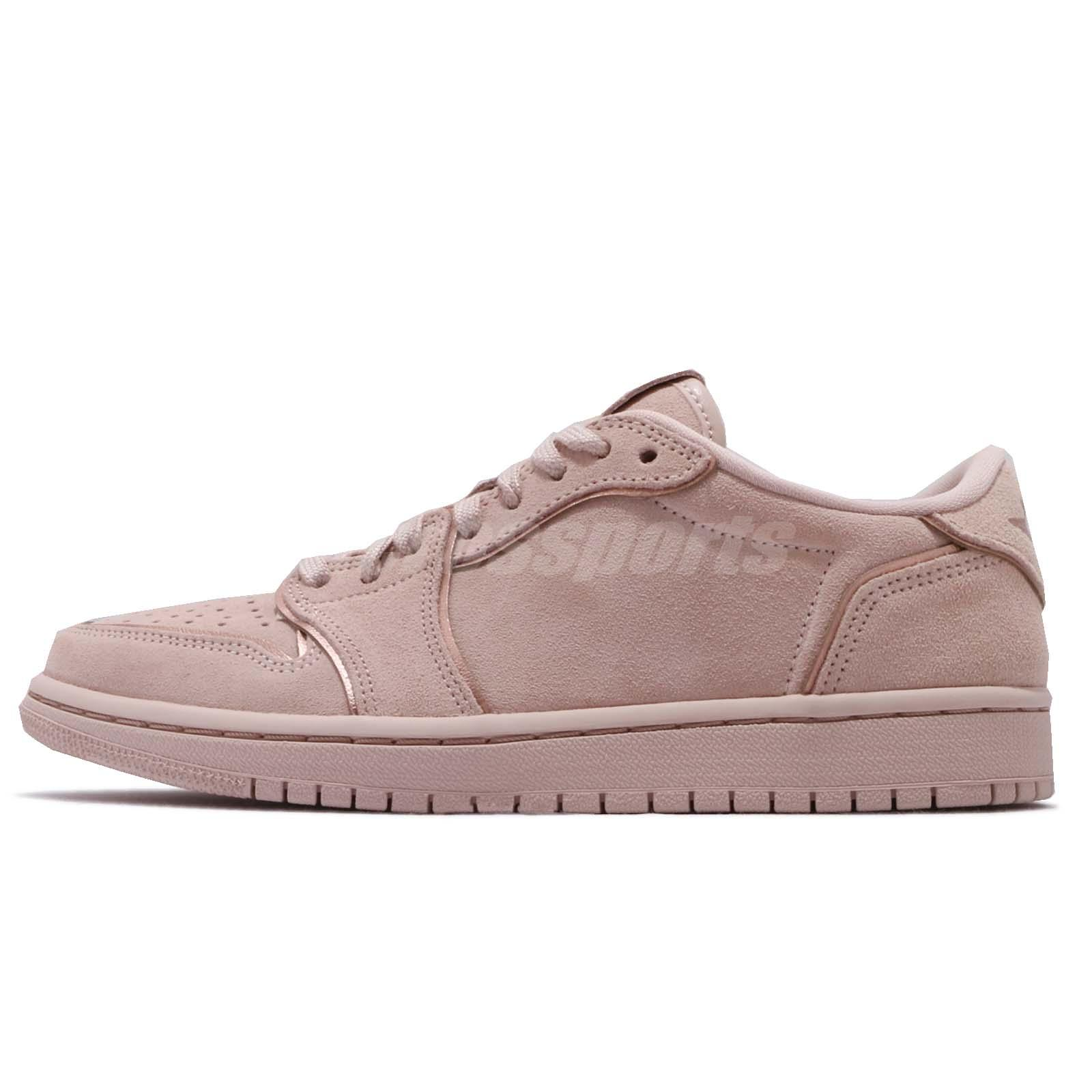 b4f398cd47c Nike Wmns Air Jordan 1 Retro Low NS No Swoosh Beige Women Shoes AJ1 AO1935 -204