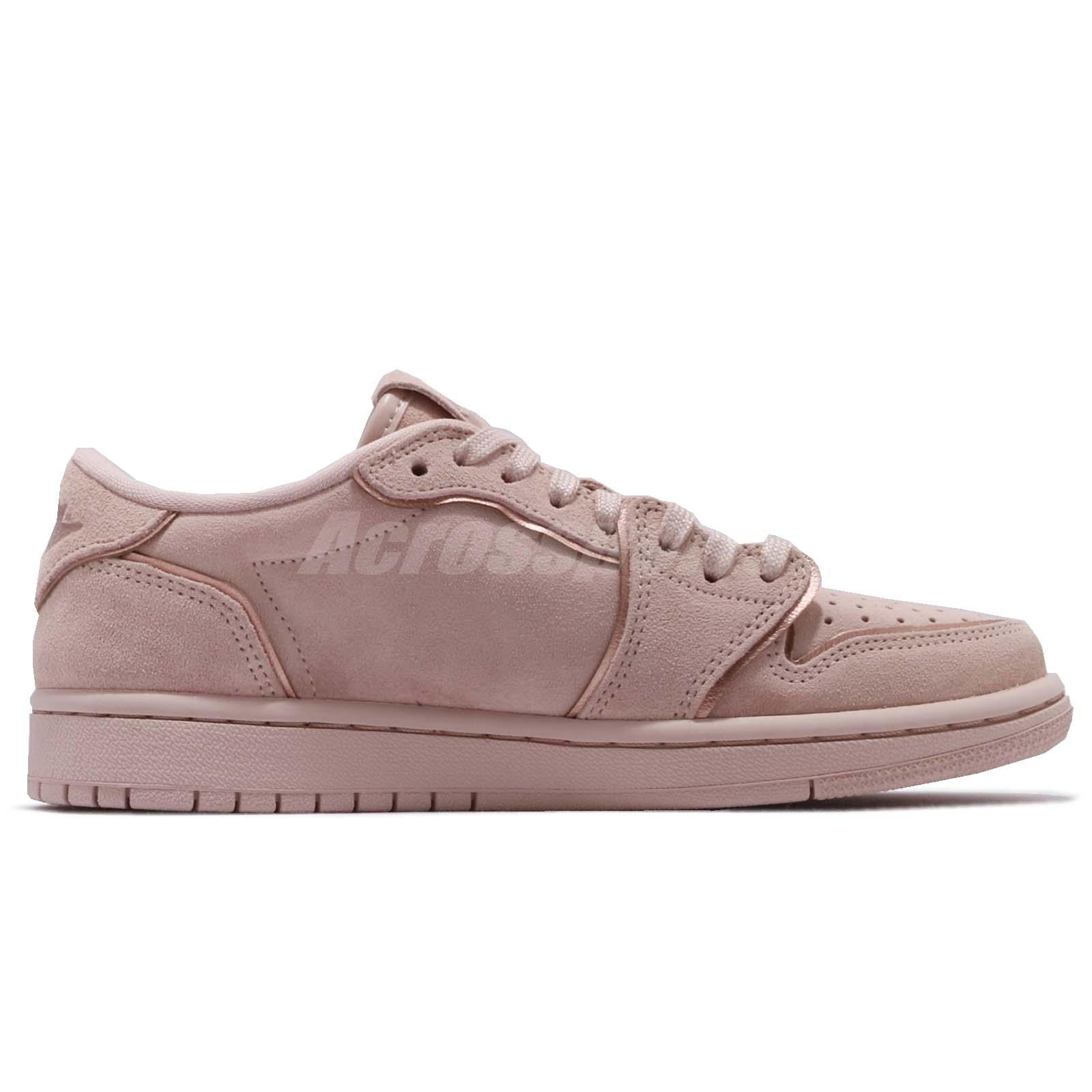 c5138911de5 Nike Wmns Air Jordan 1 Retro Low NS No Swoosh Beige Women Shoes AJ1 ...