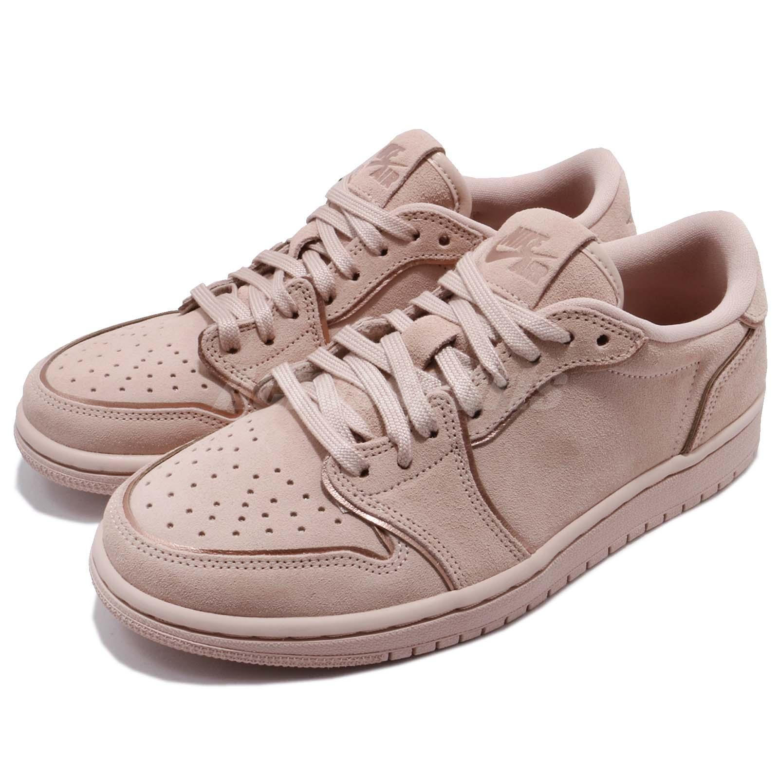 sale retailer e68a2 ba1f4 Details about Nike Wmns Air Jordan 1 Retro Low NS No Swoosh Beige Women  Shoes AJ1 AO1935-204