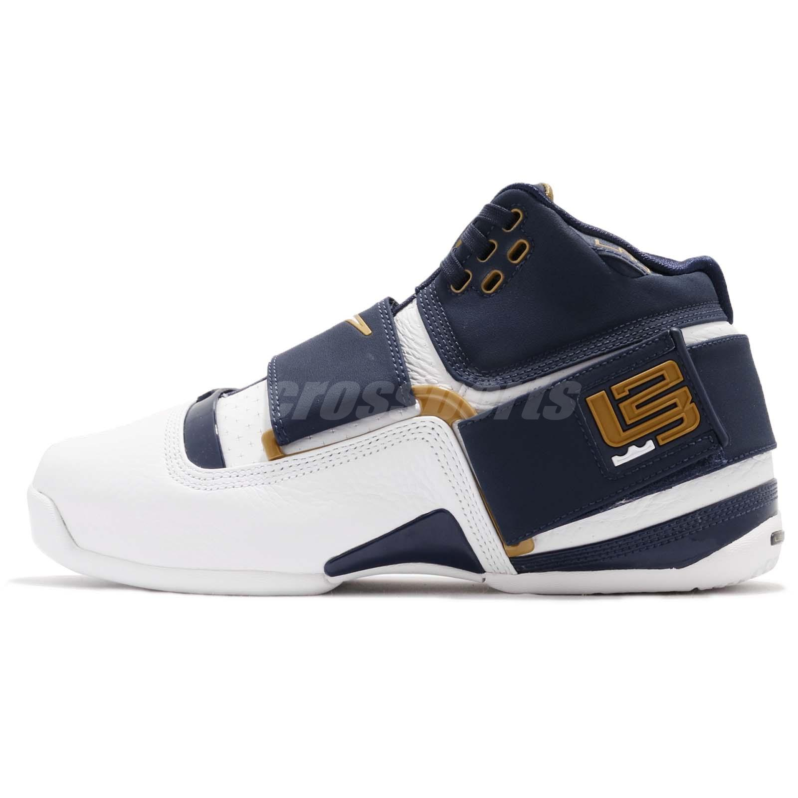 new products 54853 cd50f Nike Zoom LeBron Soldier CT16 QS 25 Straight James Navy White Men AO2088-400