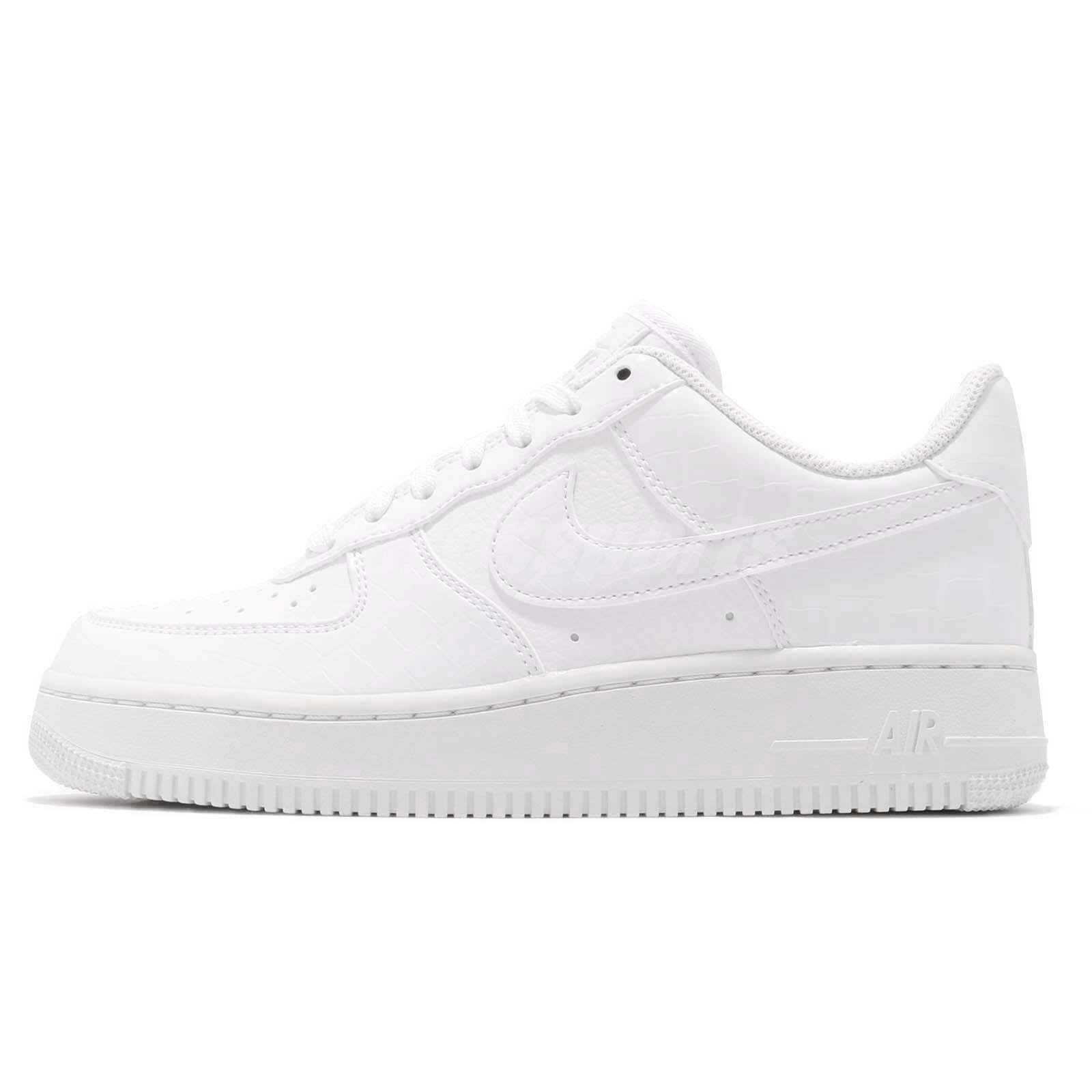 Detalles acerca de Nike Wmns Air Force 1 07 ESS AF1 Mujeres Zapatos blanco Piel de serpiente patrón AO2132 100 mostrar título original