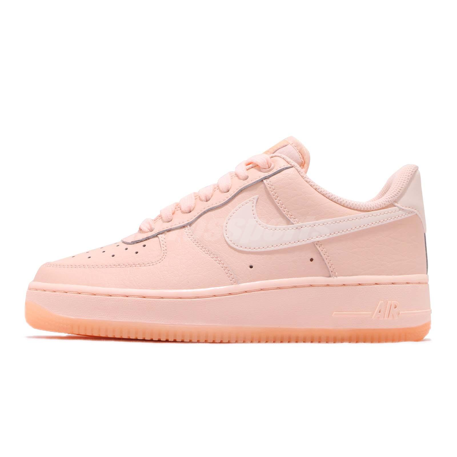separation shoes b9b7f ffca2 Nike Wmns Air Force 1 07 Essential Crimson Tint Reflect Womens Shoes AO2132- 800