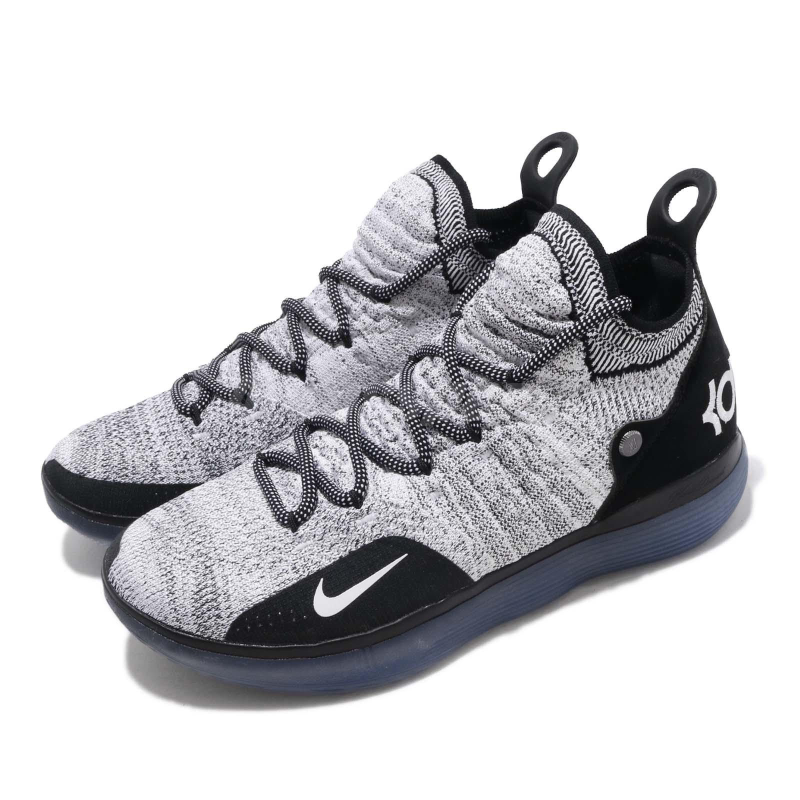 513d75126182 Details about Nike Zoom KD 11 EP Black White Blue Kevin Durant Men  Basketball Shoes AO2605-006