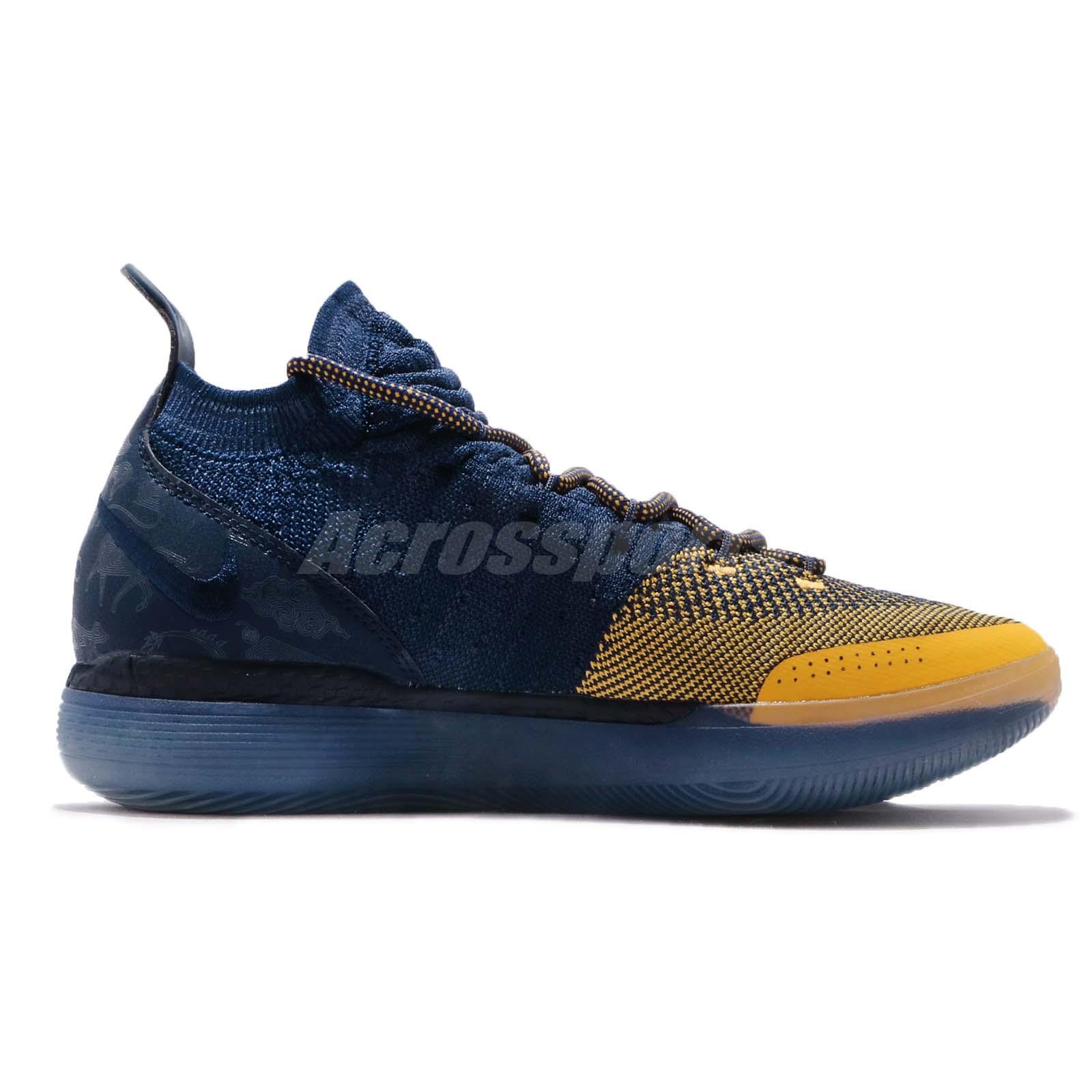2f1b0bae7fad24 Nike Zoom KD 11 EP XI Chinese Zodiac Michigan Kevin Durant Navy ...