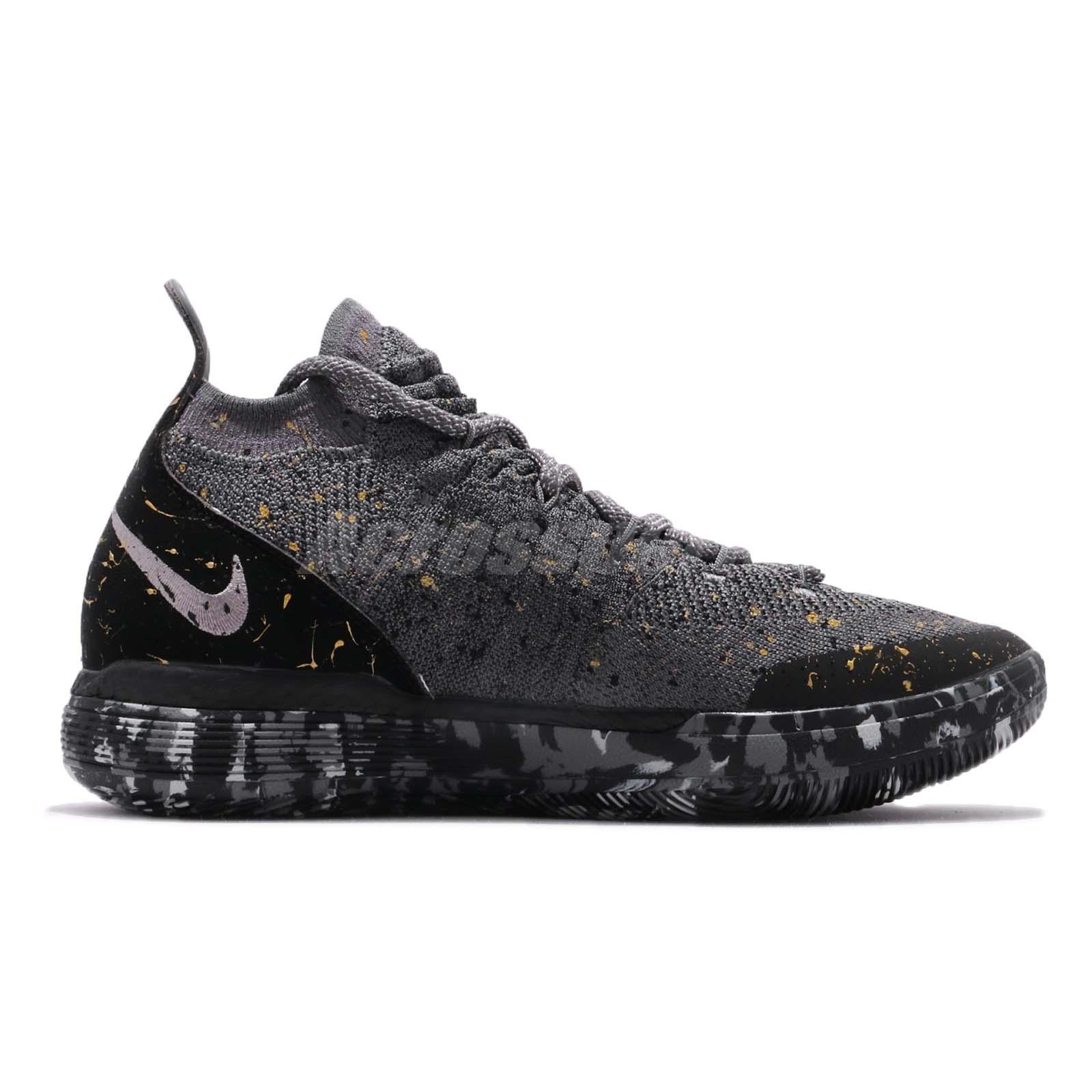 Nike Zoom KD11 EP Kevin Durant Black Gold Splatter Basketball Shoes ... 48aa47441515