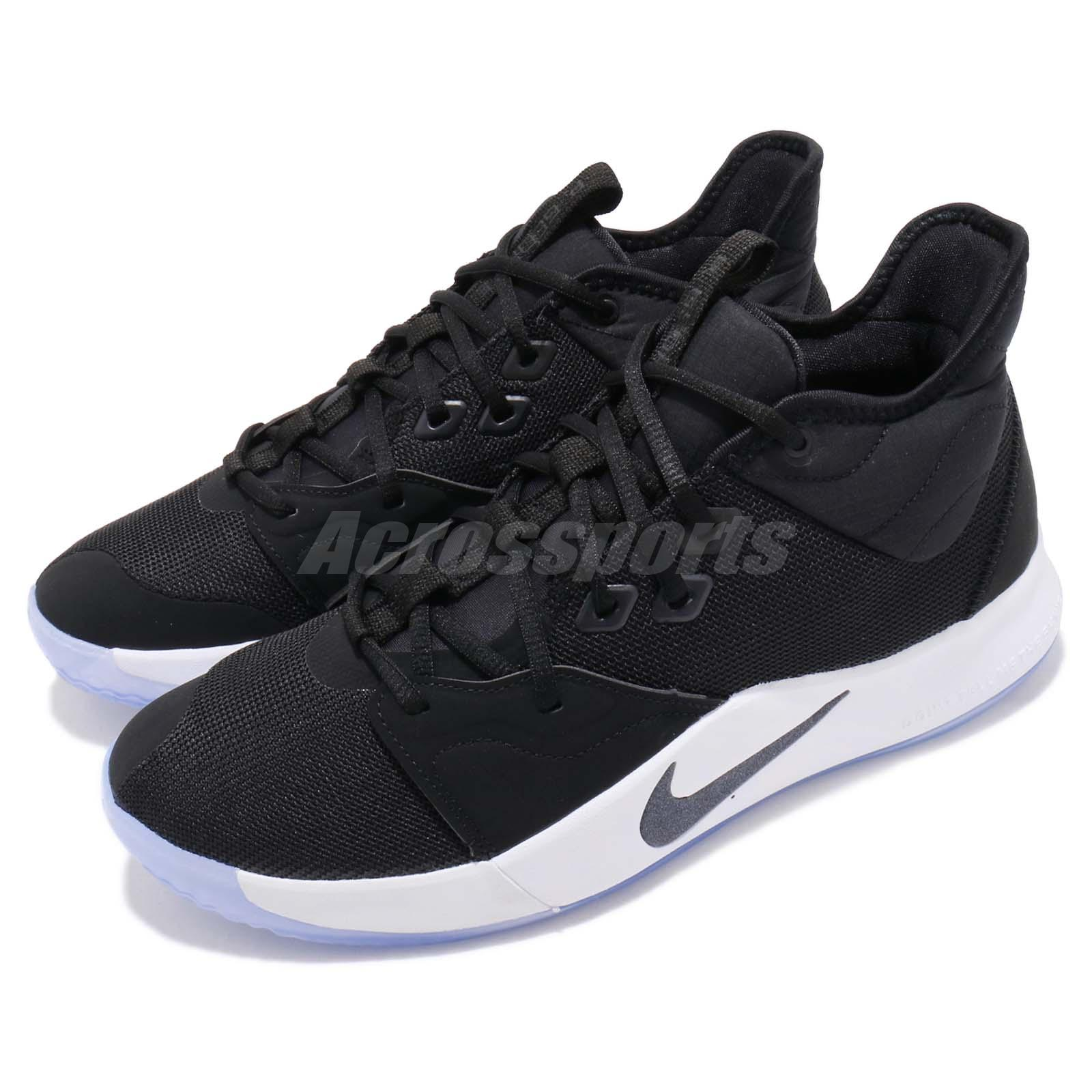 cheap for discount 8e807 476c1 Details about Nike PG 3 EP Paul George Black White Mens Basketball Shoes  Sneakers AO2608-001