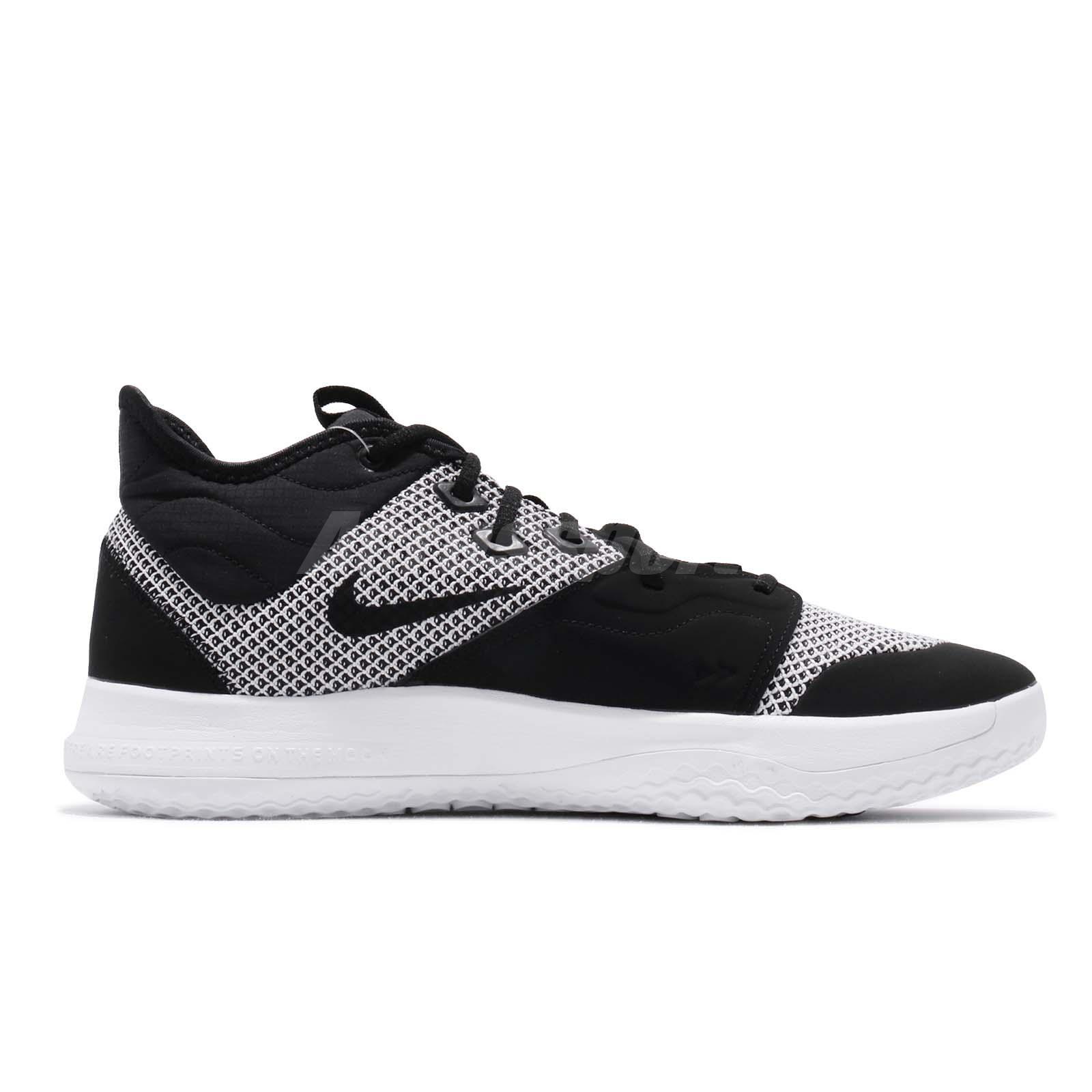 4b8fc00e89b Nike PG 3 EP Paul George Black White Mens Basketball Shoes Sneakers ...