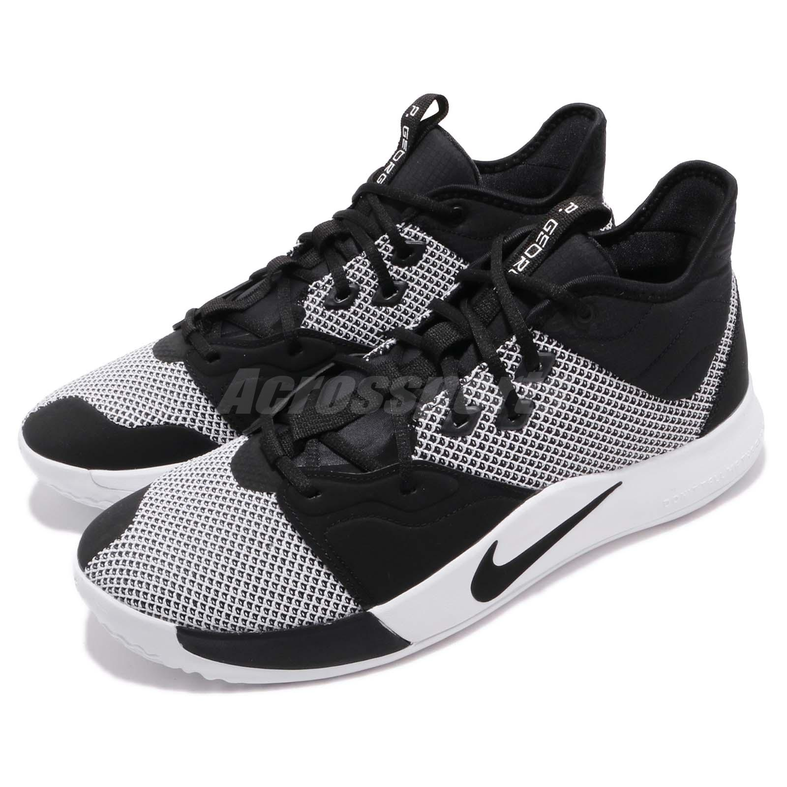 new arrival 6d29a 33ec5 Details about Nike PG 3 EP Paul George Black White Mens Basketball Shoes  Sneakers AO2608-002