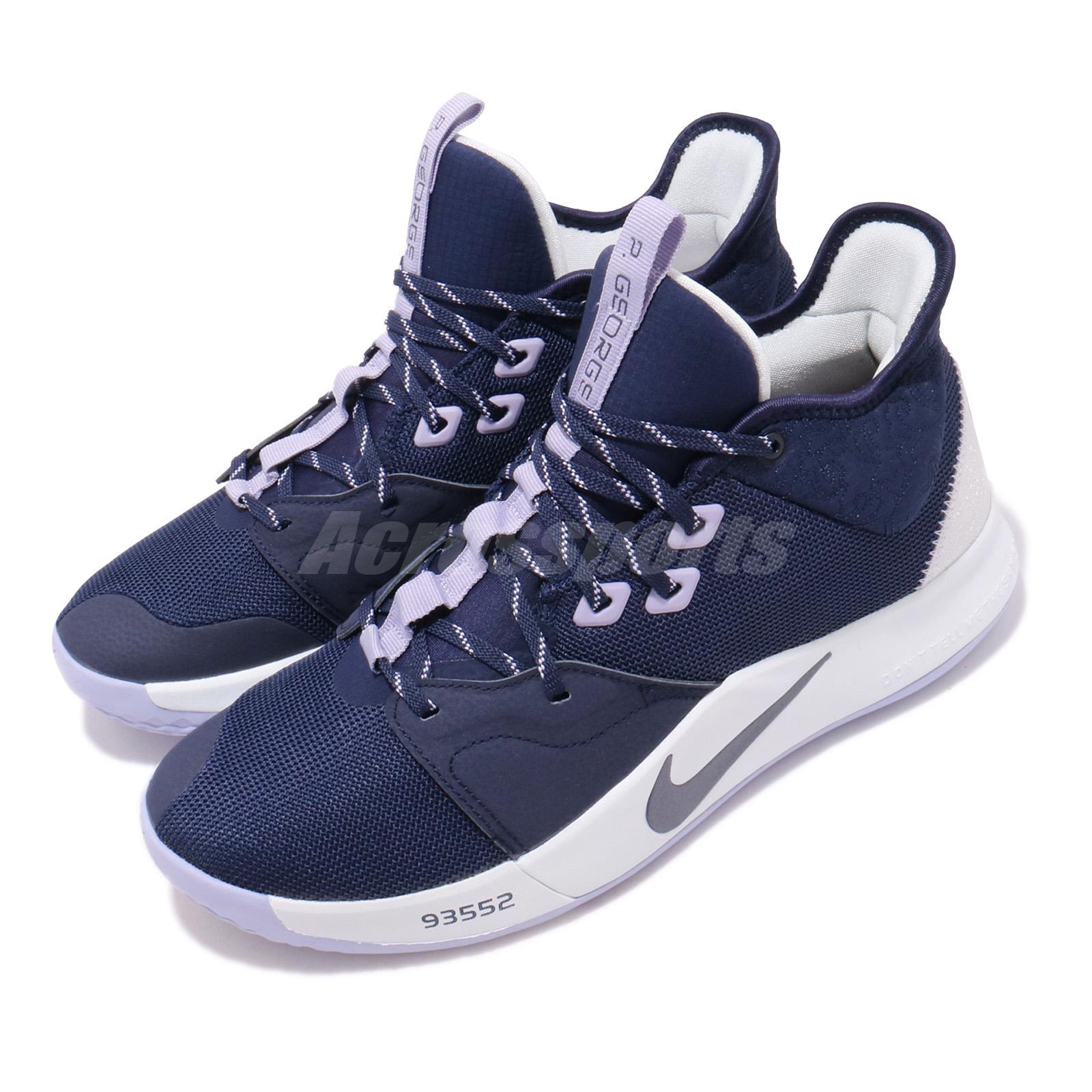 best loved c5e97 9f5d6 Details about Nike PG 3 EP Paul George III Paulette Navy Purple Men  Basketball Shoe AO2608-901