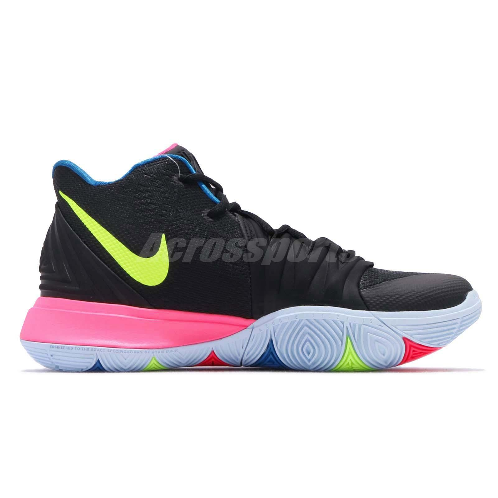 premium selection 5886e f4406 Nike Kyrie 5 EP V Irving Just Do It Black Pink Men Shoes Sneakers ...