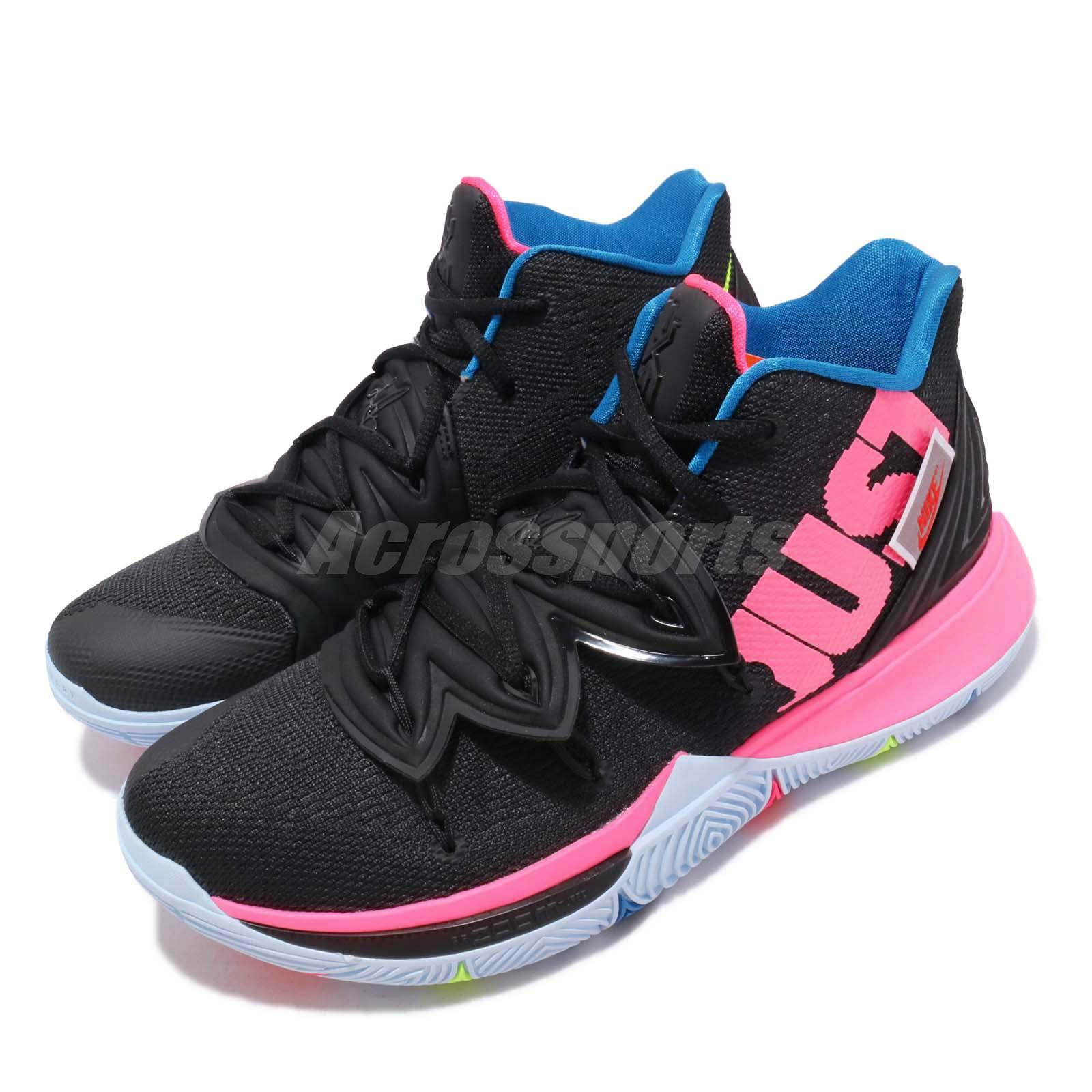 9bdb420562e1 Details about Nike Kyrie 5 EP V Irving Just Do It Black Pink Men Shoes  Sneakers AO2919-003