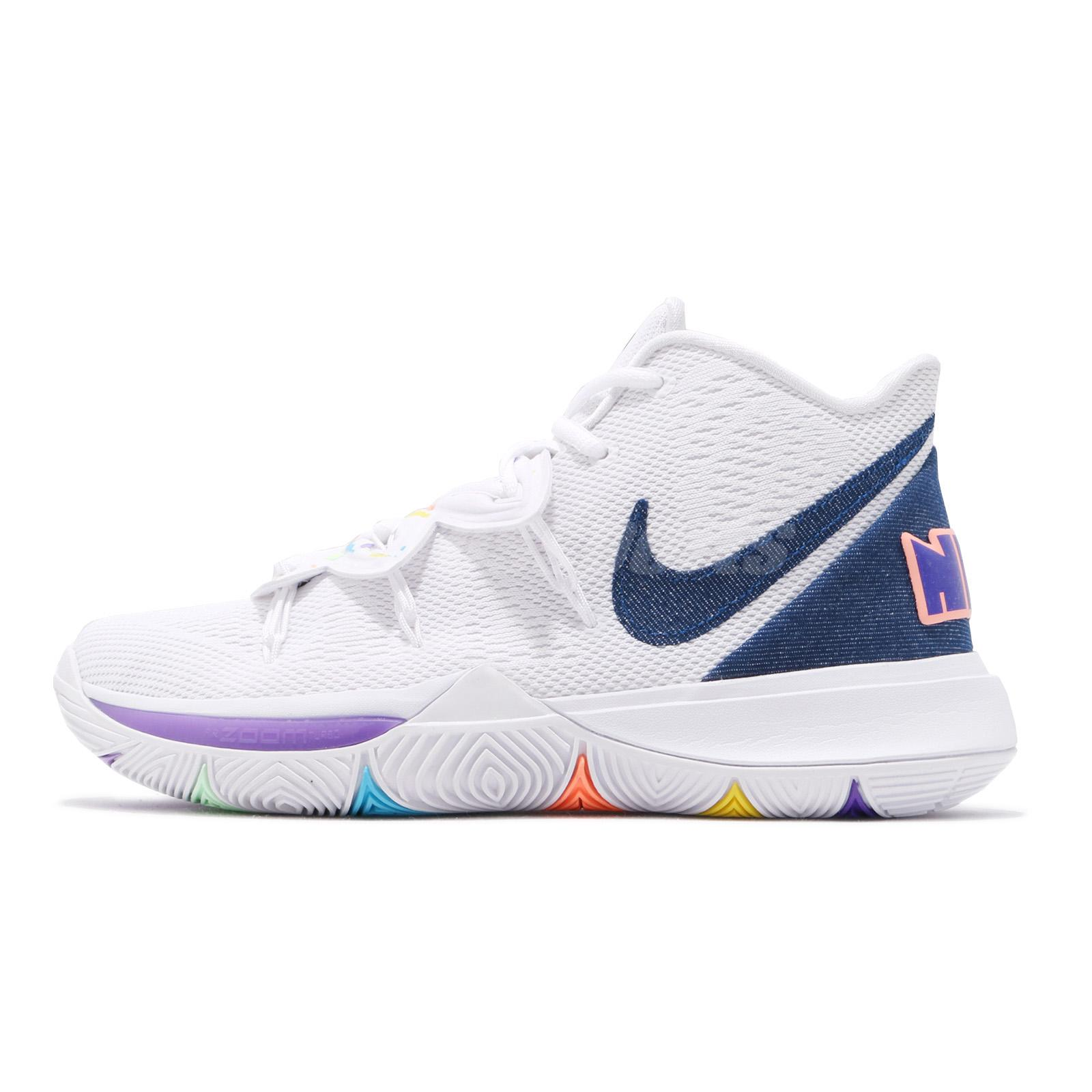 brand new 1d9cf 4d3bf Nike Kyrie 5 EP V Irving Have A Nike Day Men White Royal Blue Shoes  AO2919-101