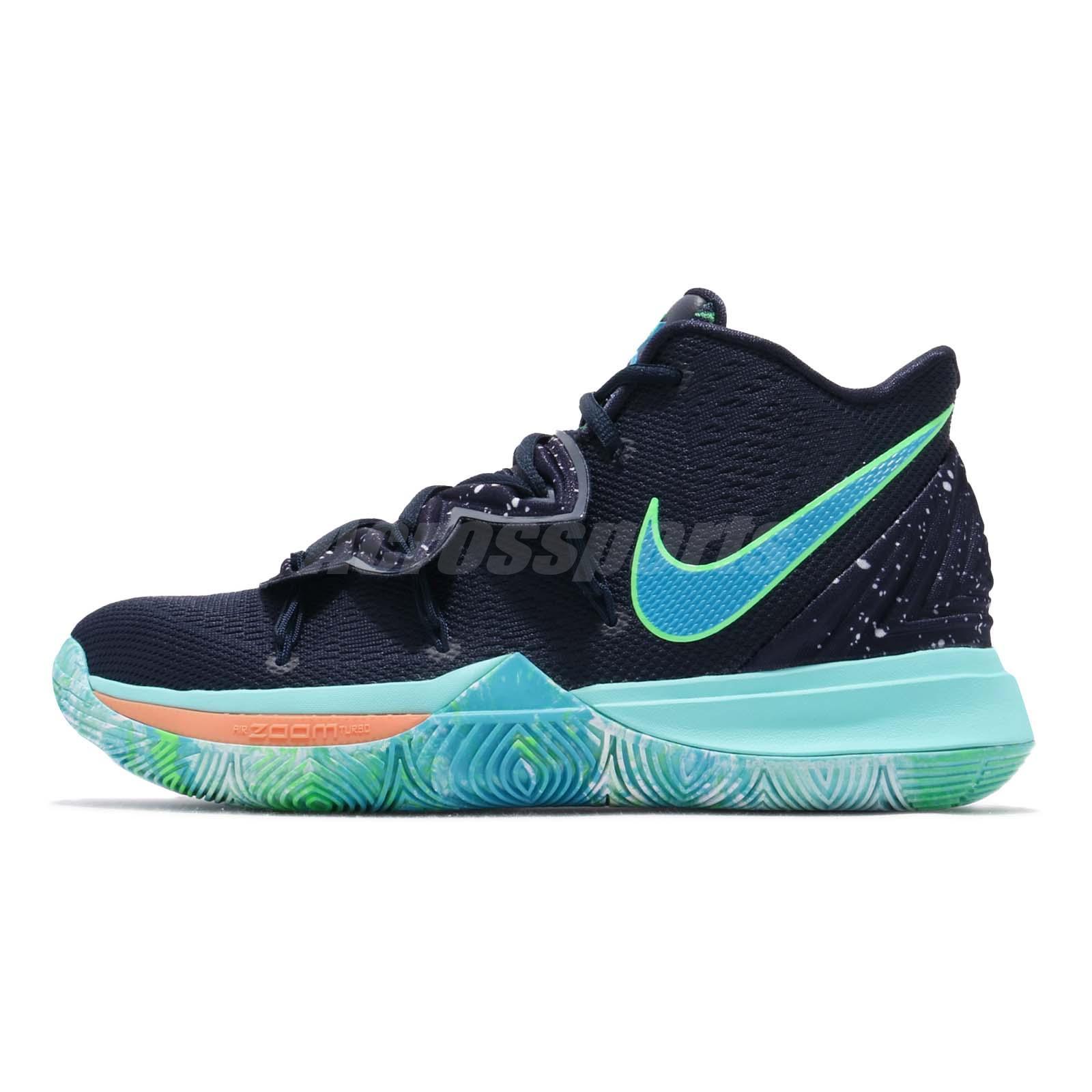 super popular eb3a0 9d48e Nike Kyrie 5 EP UFO Obsidian Blue Mens Basketball Shoes Kyrie Irving  AO2919-400