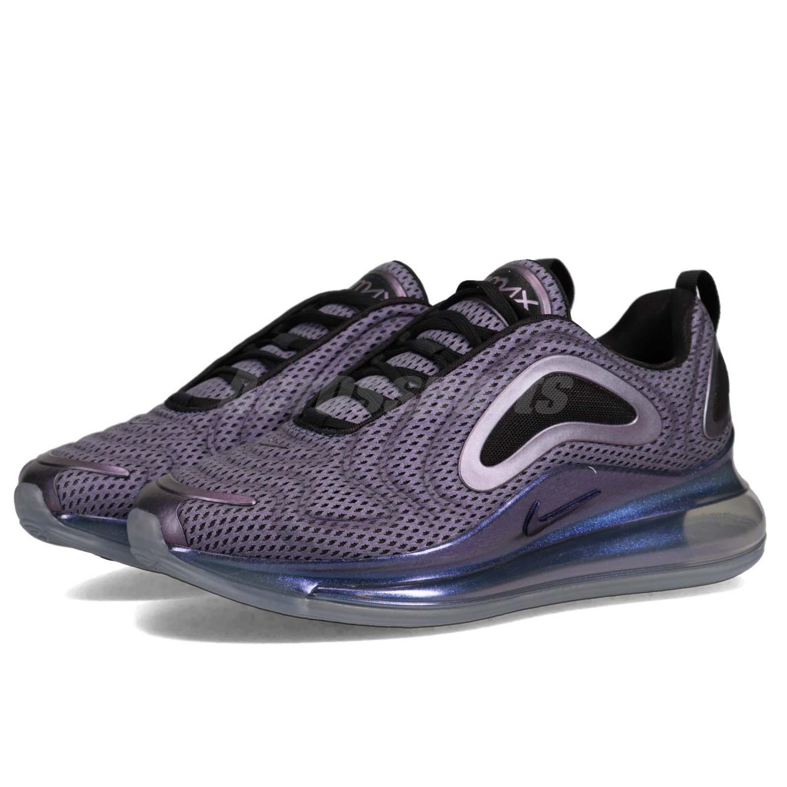 Mens Nike Air Max 720 Athletic Sneakers Black silver NIKE ND009134