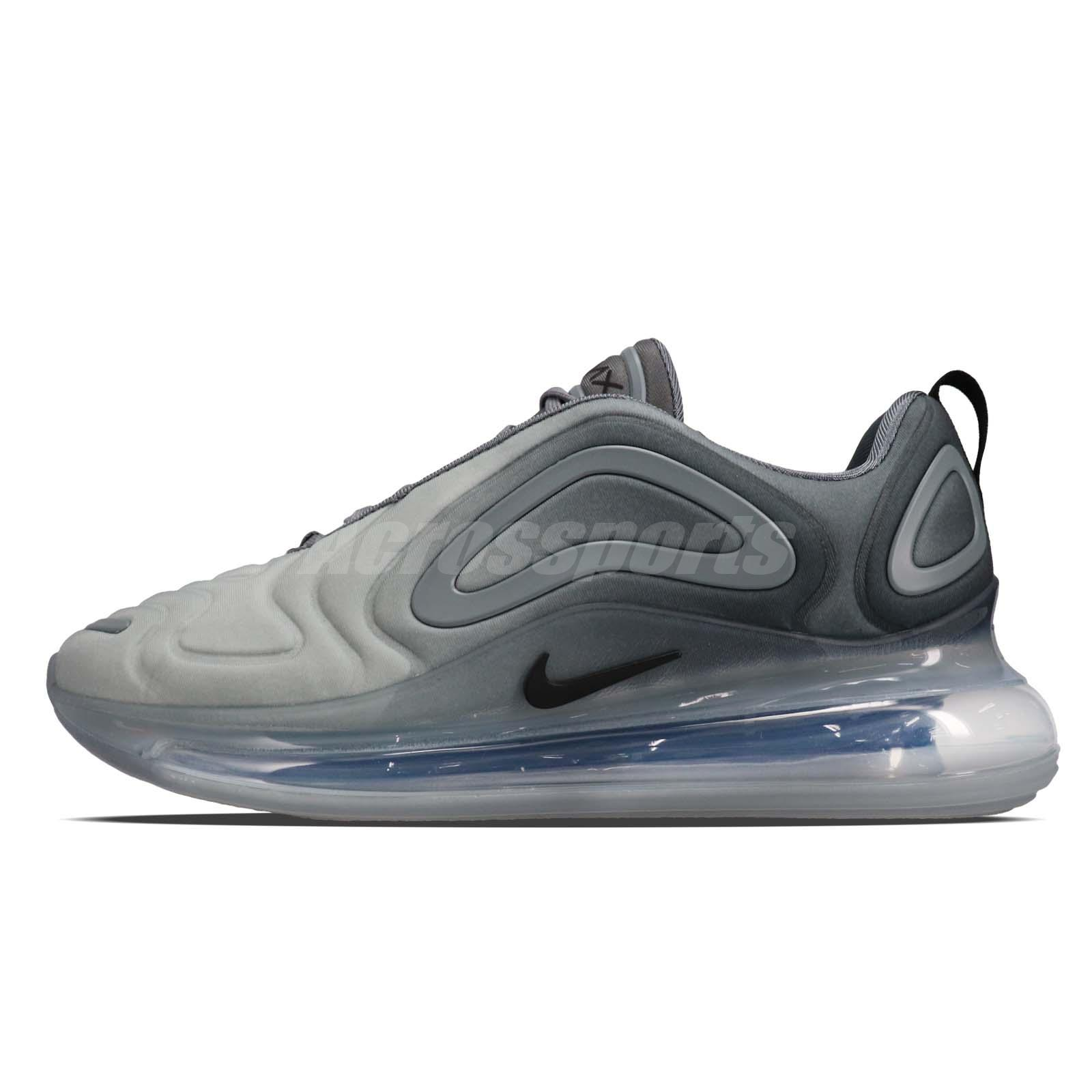 Details about Nike Air Max 720 Grey Black Men Running Casual Lifestyle Shoe Sneaker AO2924 002