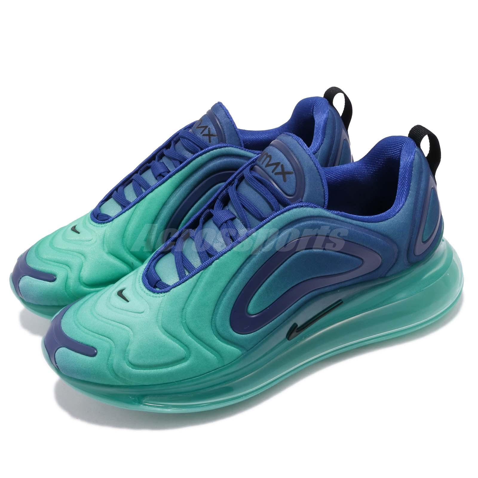reputable site 2000f 689a9 Details about Nike Air Max 720 Sea Forest Deep Royal Blue Men Running Shoes  Sneaker AO2924-400