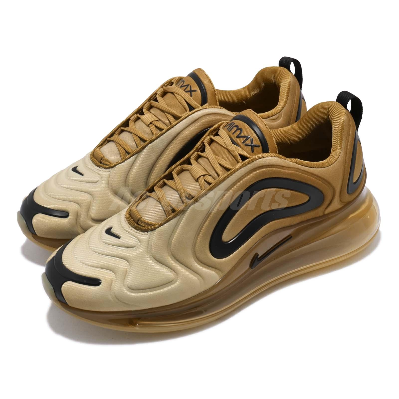 size 40 4b5ea ce637 Details about Nike Air Max 720 Desert Gold Wheat Black Men Running Shoes  Sneakers AO2924-700