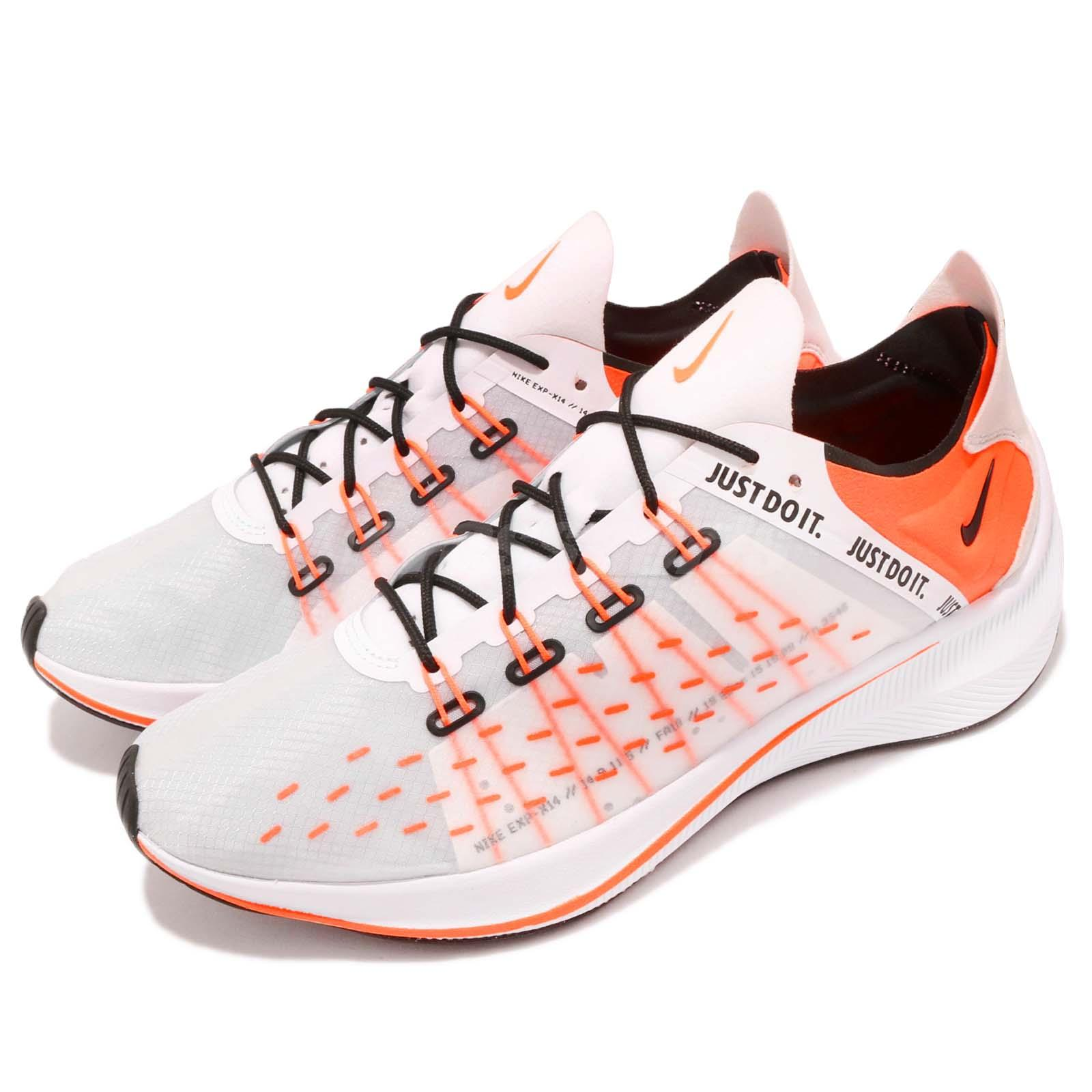 separation shoes 232c3 63c16 Details about Nike EXP-X14 SE Just Do It White Orange Men Running Shoes  Sneakers AO3095-100