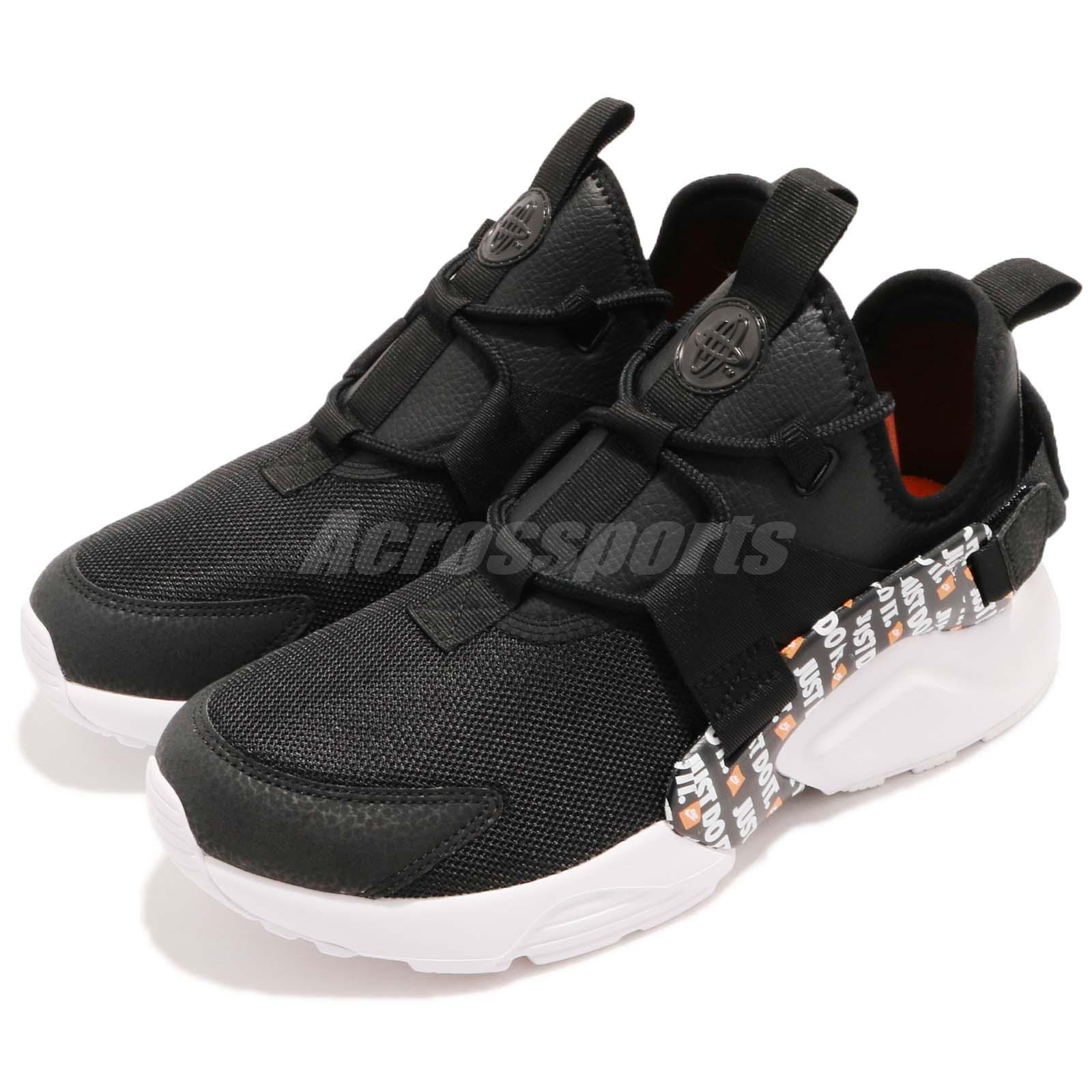 Details about Nike Wmns Air Huarache City Low PRM Just Do It JDI Black White Women AO3140 001