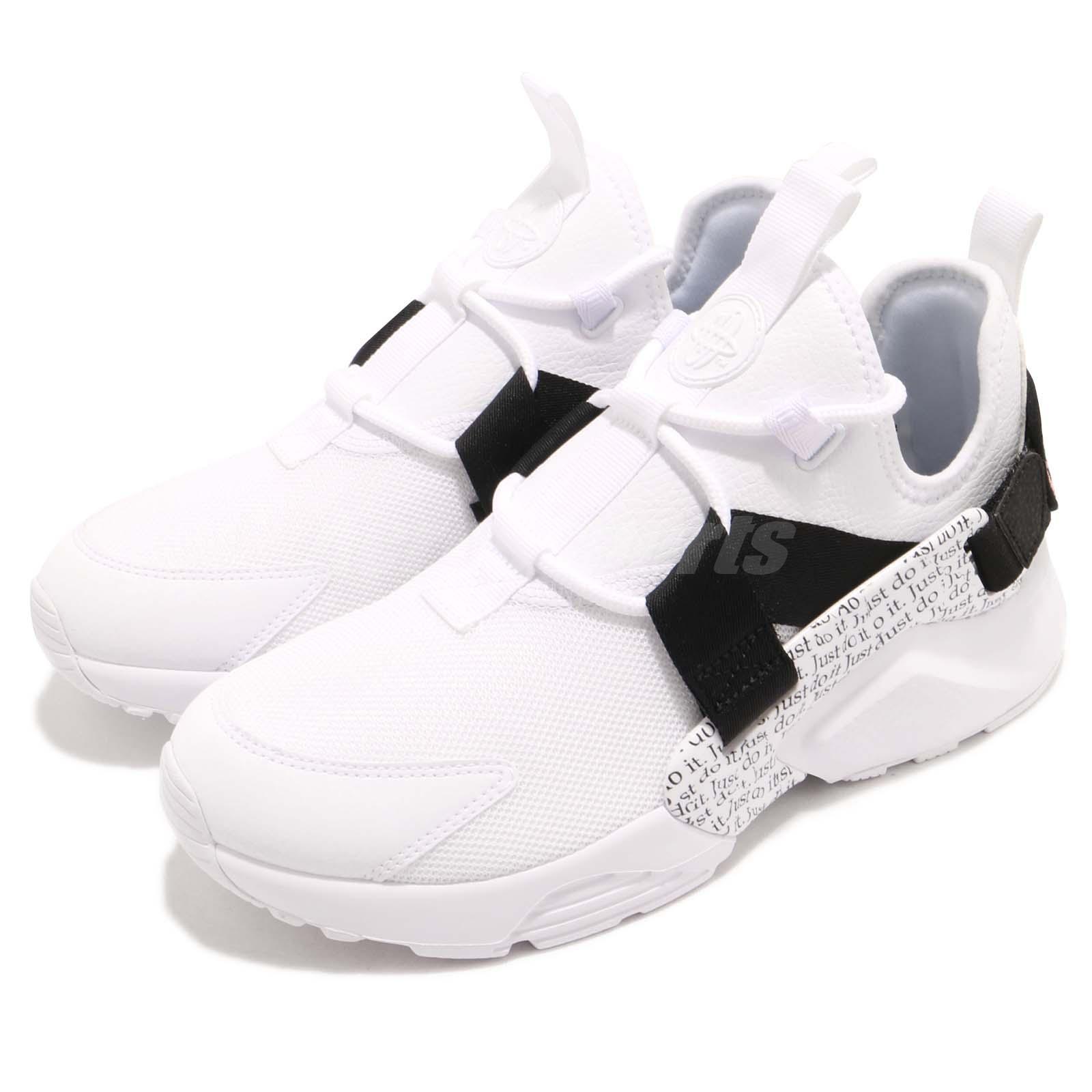 39dc37c95786 Details about Nike Wmns Air Huarache City Low PRM Just Do It JDI White  Black Women AO3140-100