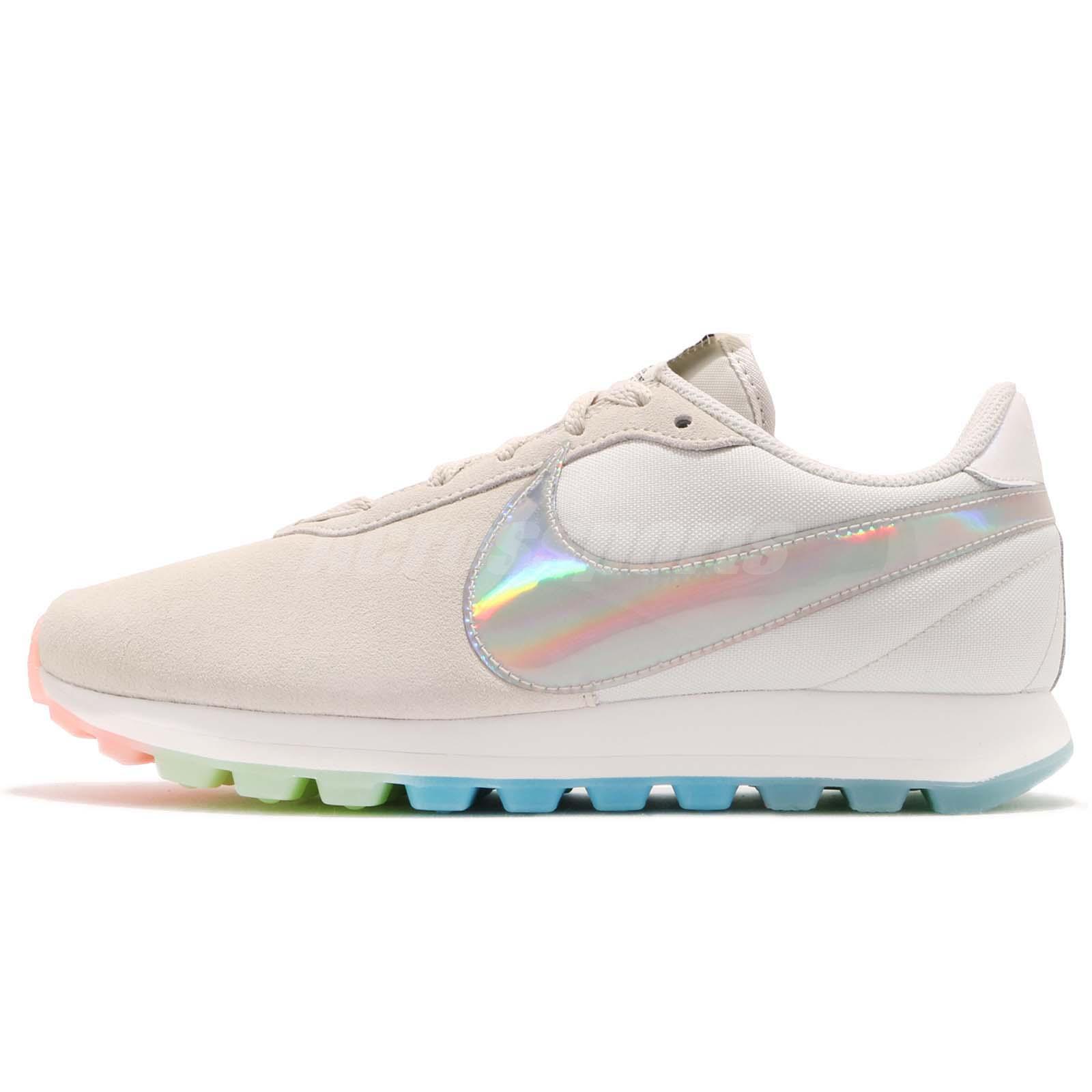 79cef95e9fe446 Nike Wmns Nike Pre-Love O.X. Rainbow Iridescent Summit White Women  AO3166-100