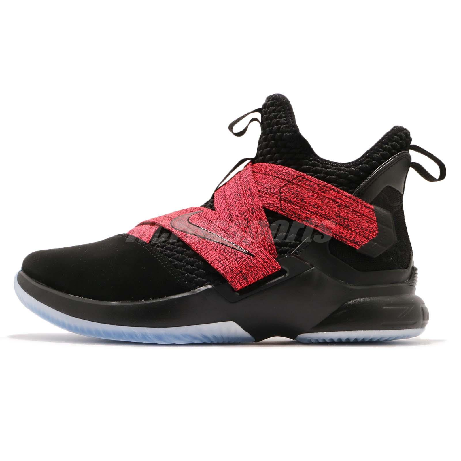 e80185fb79c Nike LeBron Soldier XII EP 12 James LBJ Black Red Men Basketball Shoe  AO4053-003