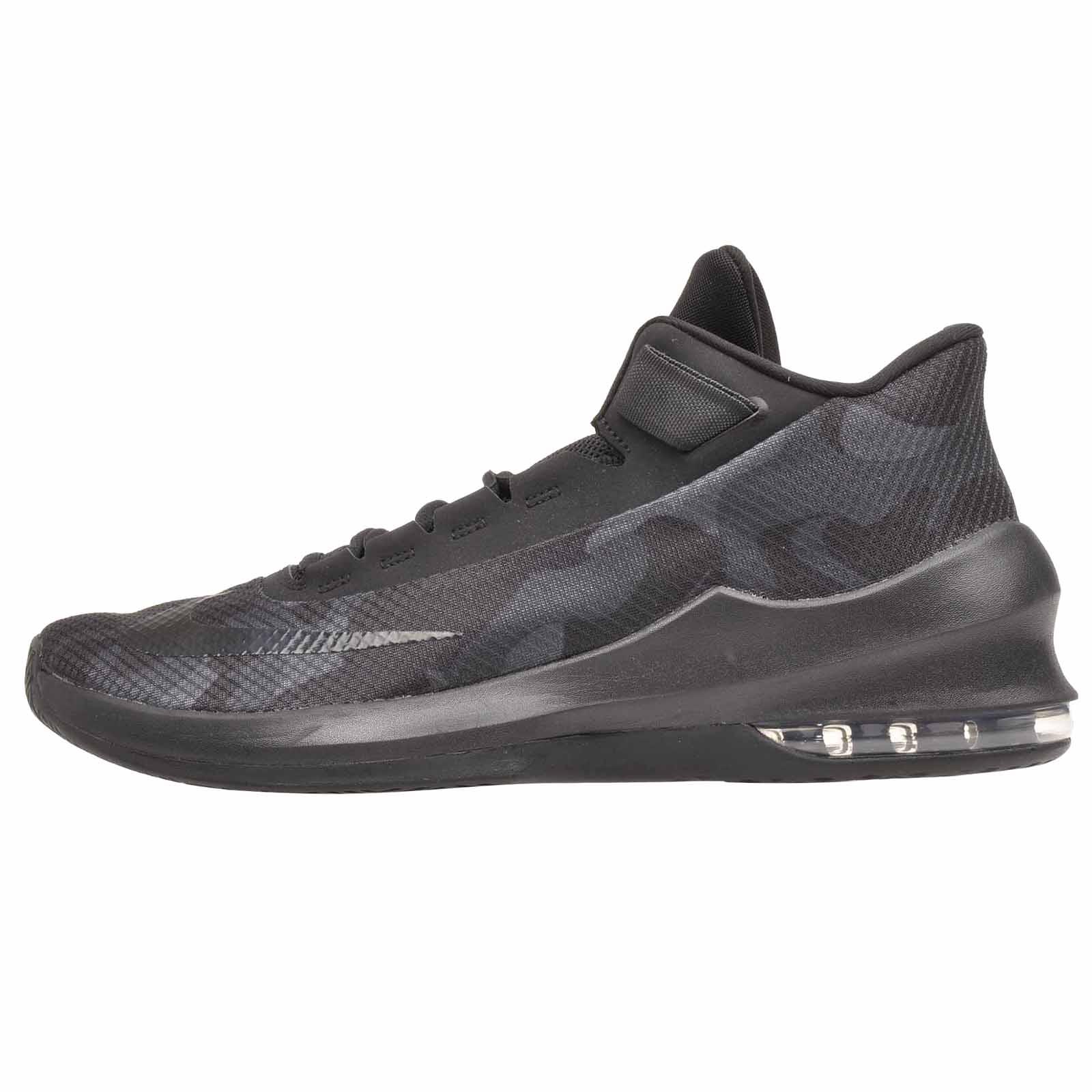 b2ab983174d1 Nike Air Max Infuriate 2 MID PRM Basketball Mens Shoes Black AO4428 ...