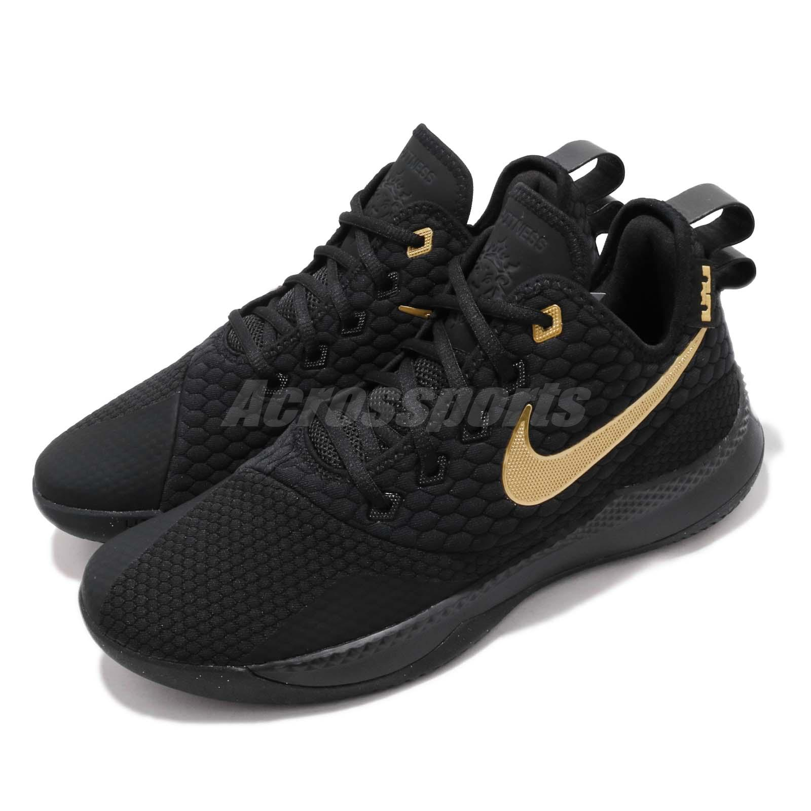 3bdd41e8da8 Details about Nike LeBron Witness III EP 3 James LBJ Black Gold Men  Basketball Shoe AO4432-003