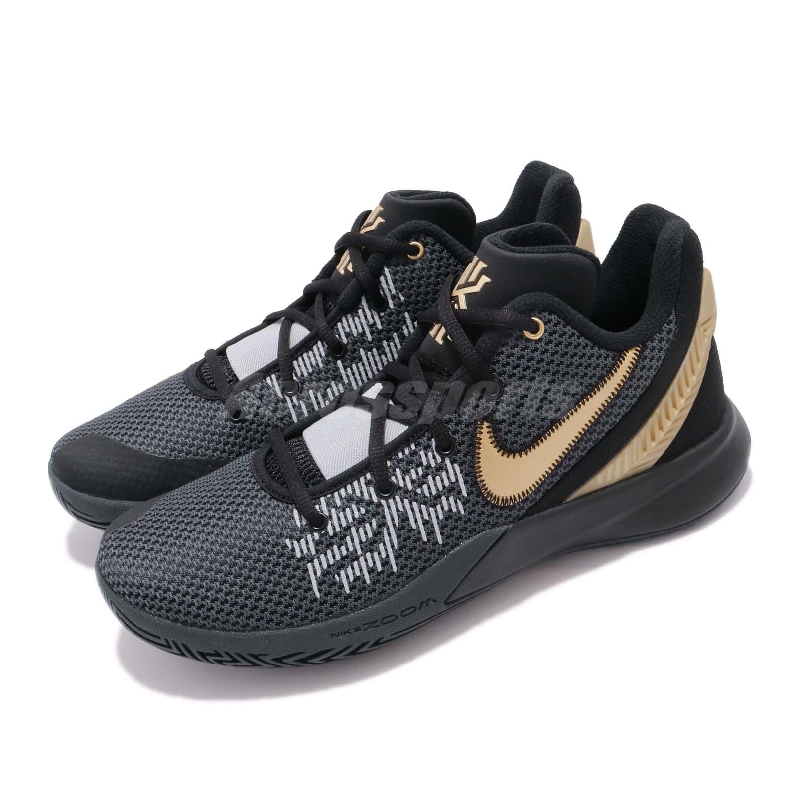 9fc298215e09 Details about Nike Kyrie Flytrap II EP Irving Black Gold Grey Men  Basketball Shoes AO4438-002