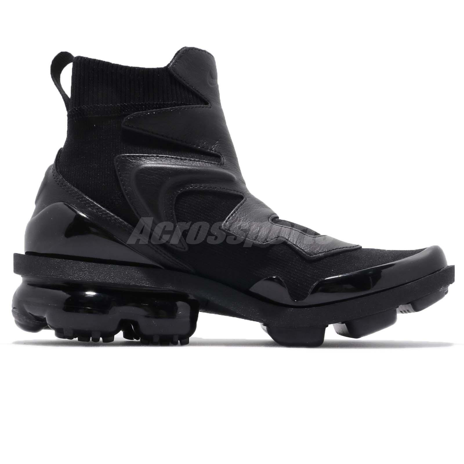 c5b2a2f442c Nike Wmns Vapormax Light II 2 Hi Triple Black Women Fashion Shoes ...