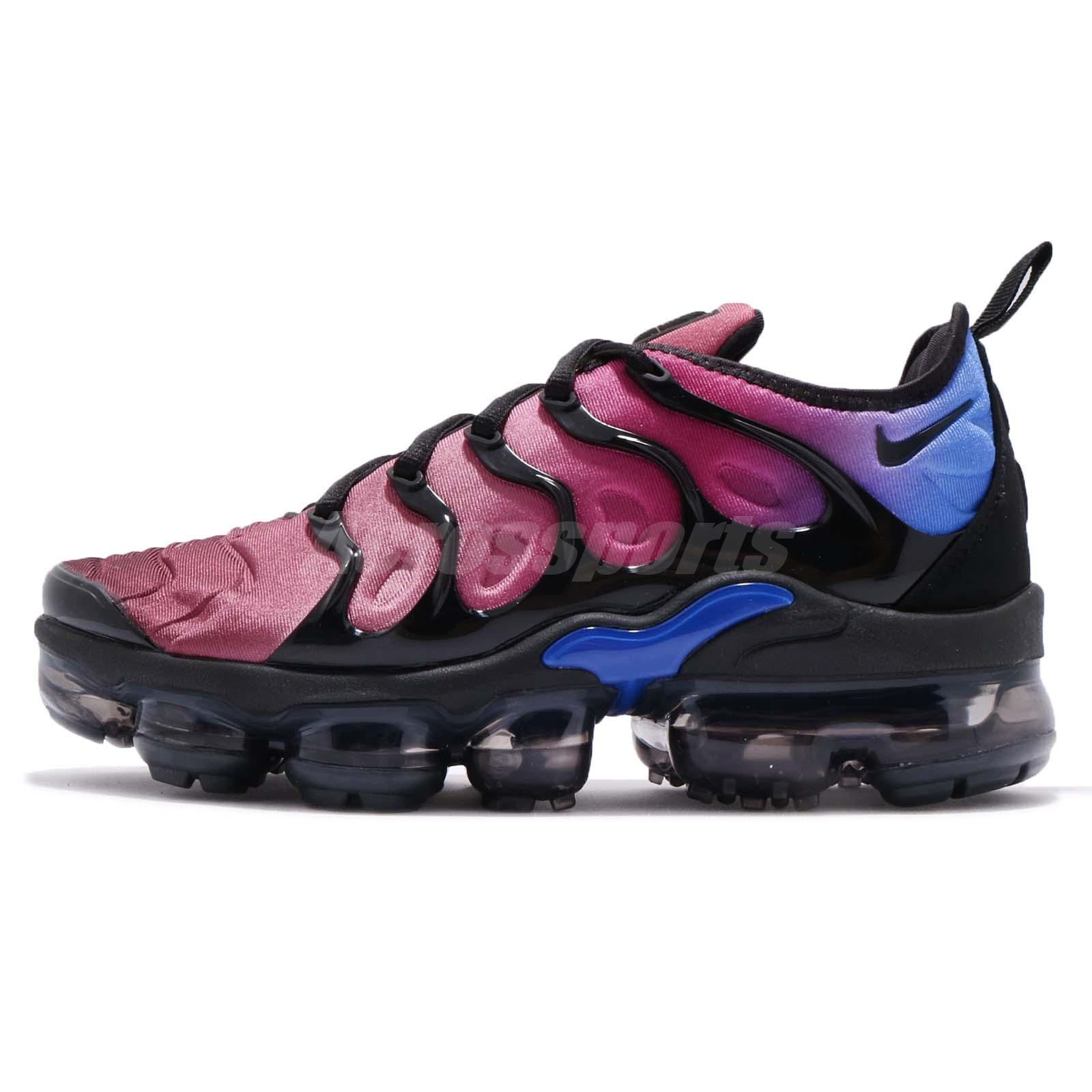 b3c54e821b89 Nike Wmns Air Vapormax Plus Black Team Red Hyper Violet Women Running  AO4550-001