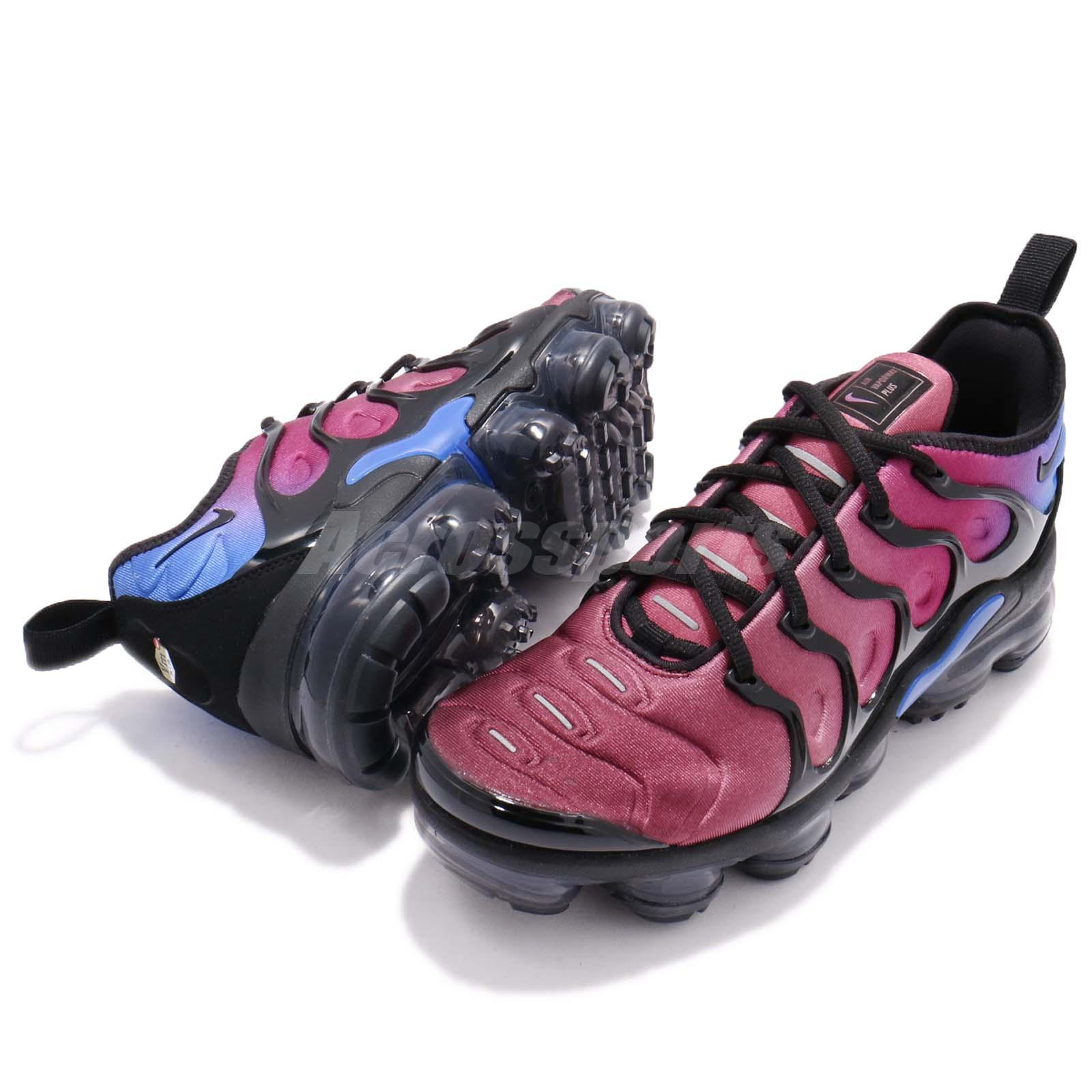 wholesale dealer 77746 0ca5c Nike Wmns Air Vapormax Plus Black Team Red Hyper Violet Women Shoes ...