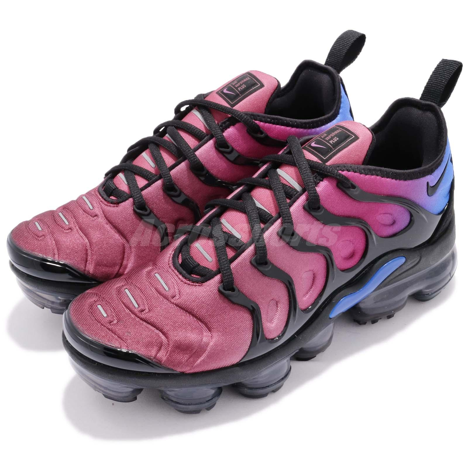 9eae784158e0c Details about Nike Wmns Air Vapormax Plus Black Team Red Hyper Violet Women  Running AO4550-001