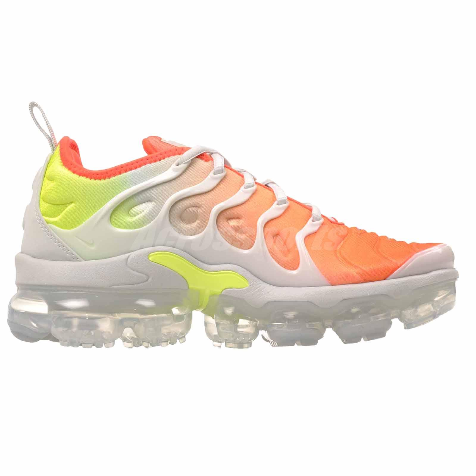 16378f6c38cbe Nike W Air Vapormax Plus Womens Running Shoes Grey Orange Yellow ...