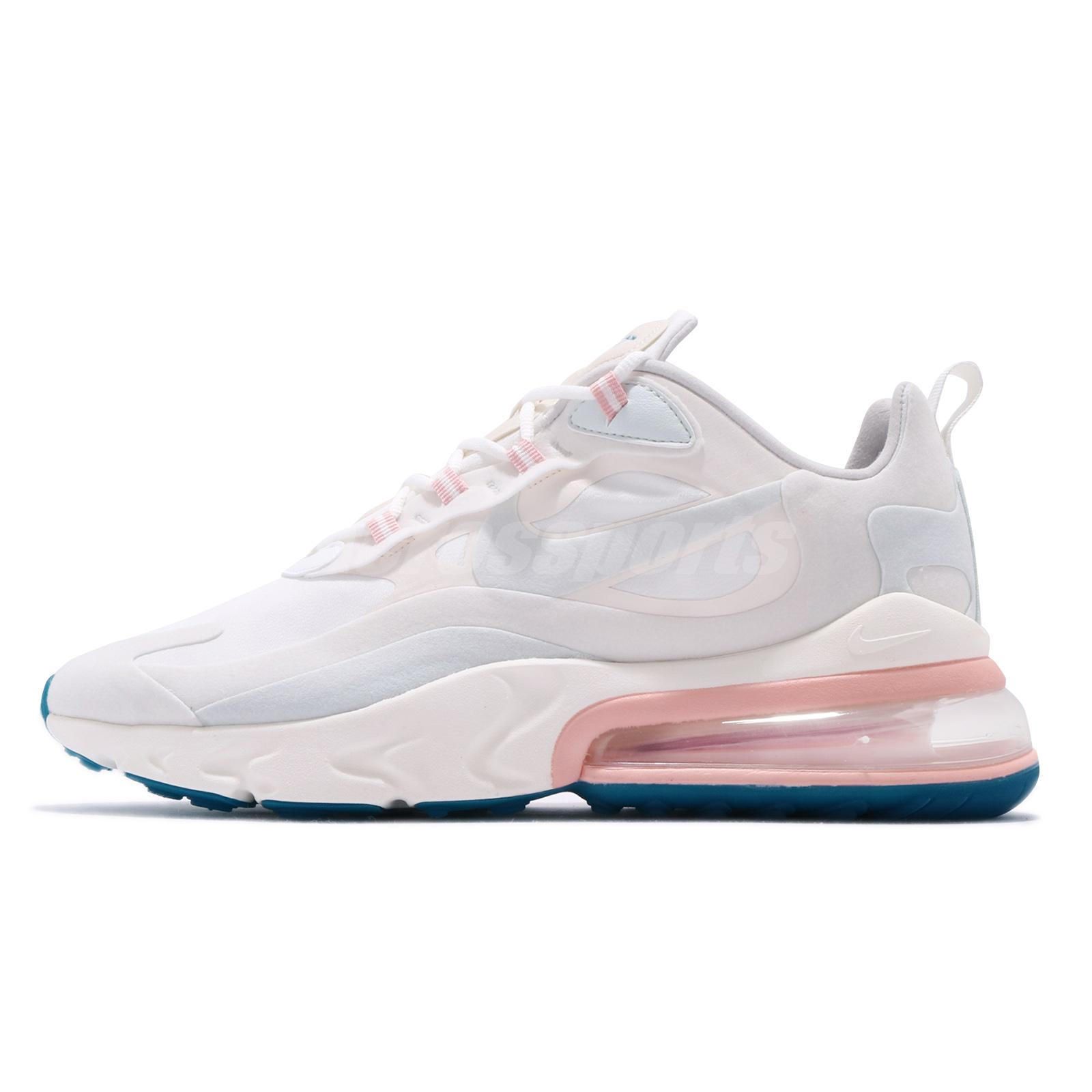 Details about Nike Air Max 270 React Summit White Blue Pink Mens Running  Shoes AO4971-100
