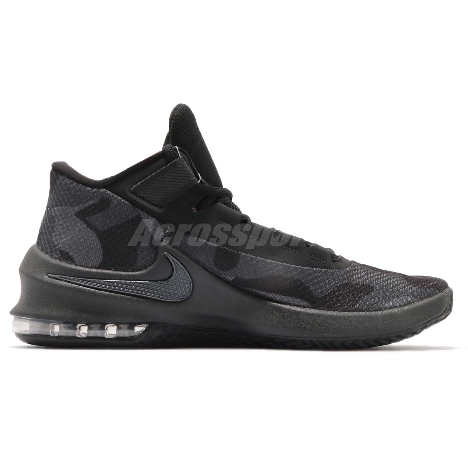 53d5f8531f8e Nike Air Max Infuriate 2 Mid PRM EP Black Grey Camo Basketball Shoes ...