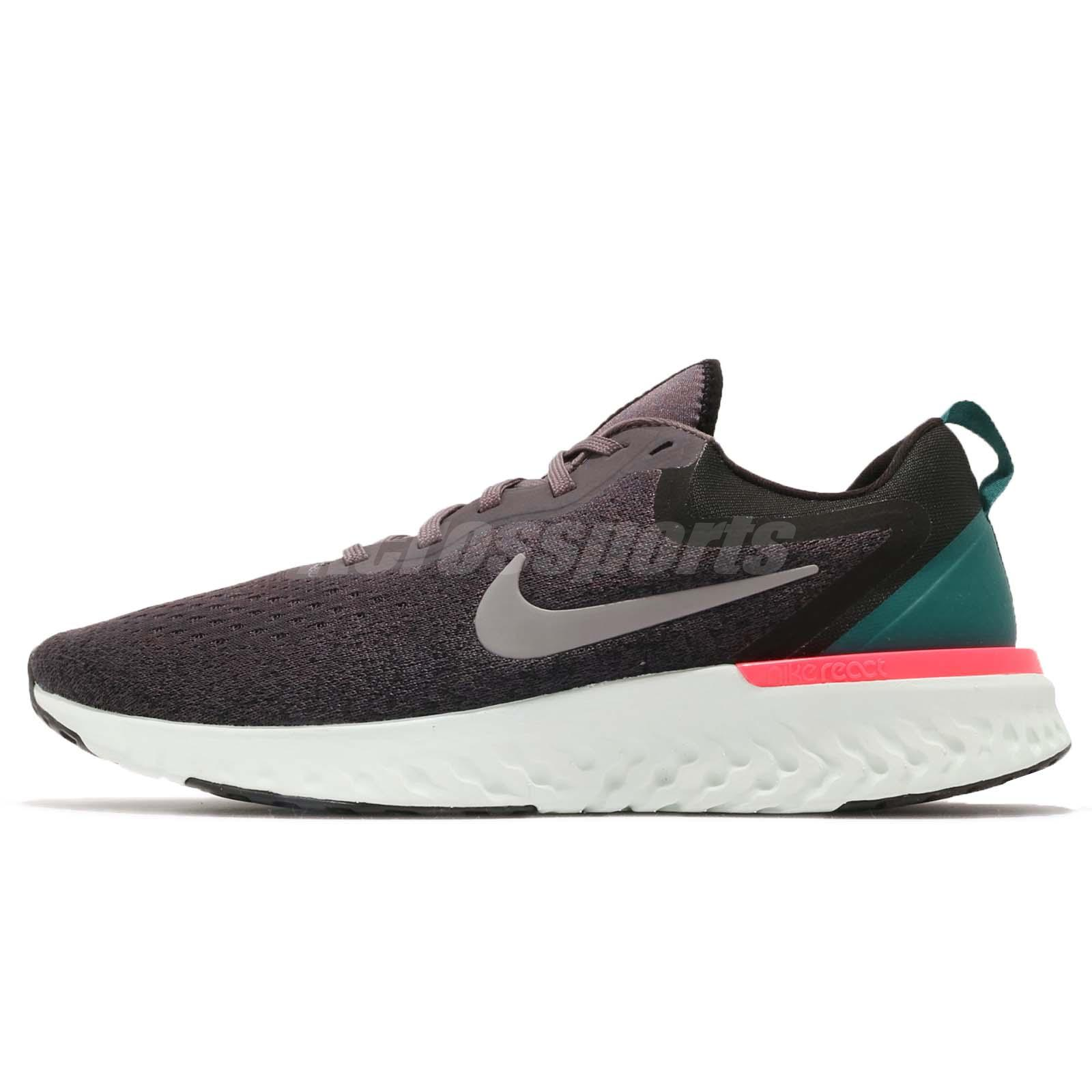 bb3704d3ed00 Nike Odyssey React Thunder Grey Green Pink Men Running Shoes Sneakers  AO9819-007